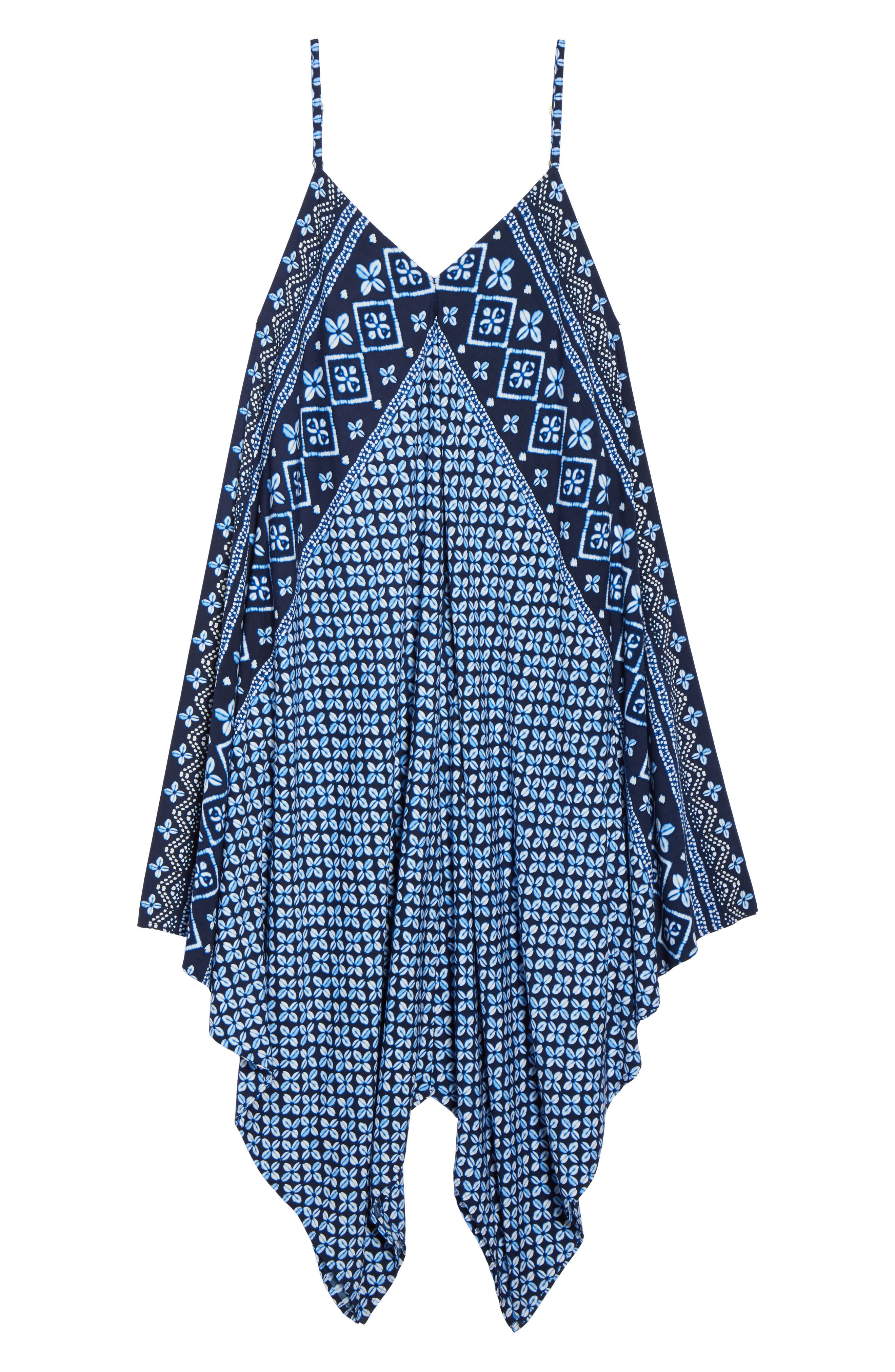 Indigo Cowrie Diamonds Cover-Up Dress,                             Alternate thumbnail 6, color,                             MARE