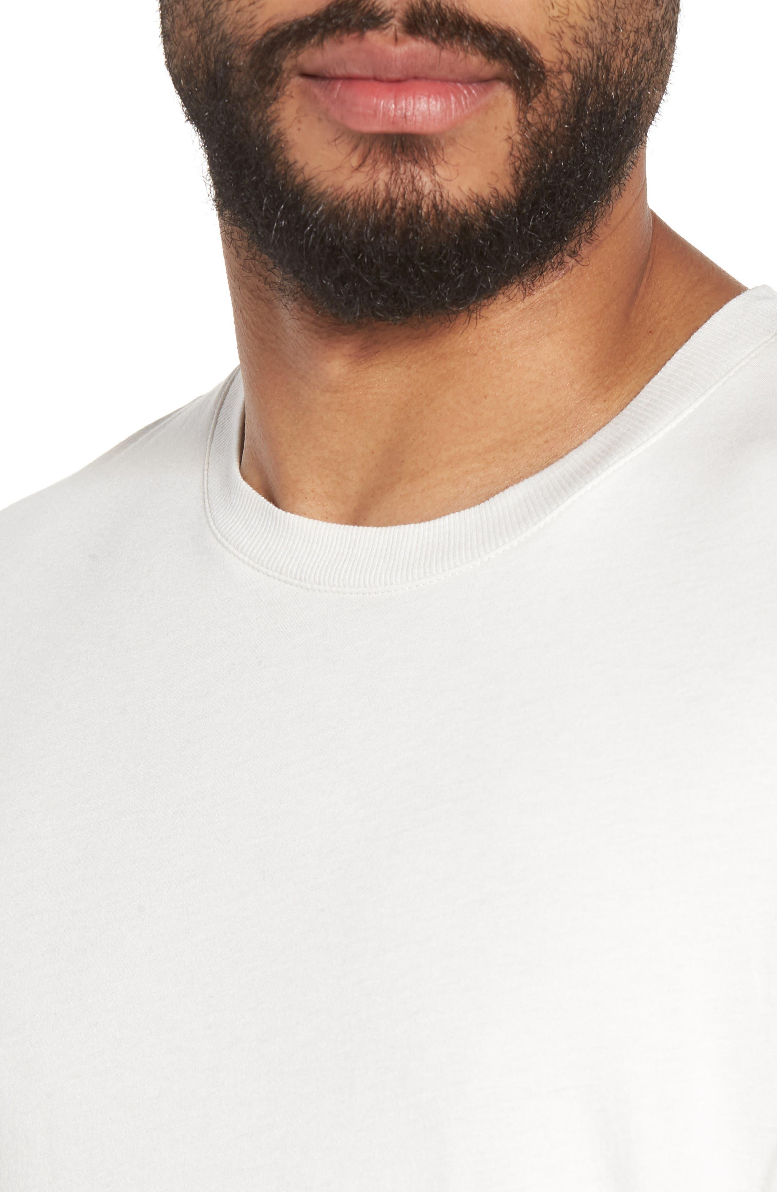 Double Layer Slim Fit T-Shirt,                             Alternate thumbnail 4, color,                             100
