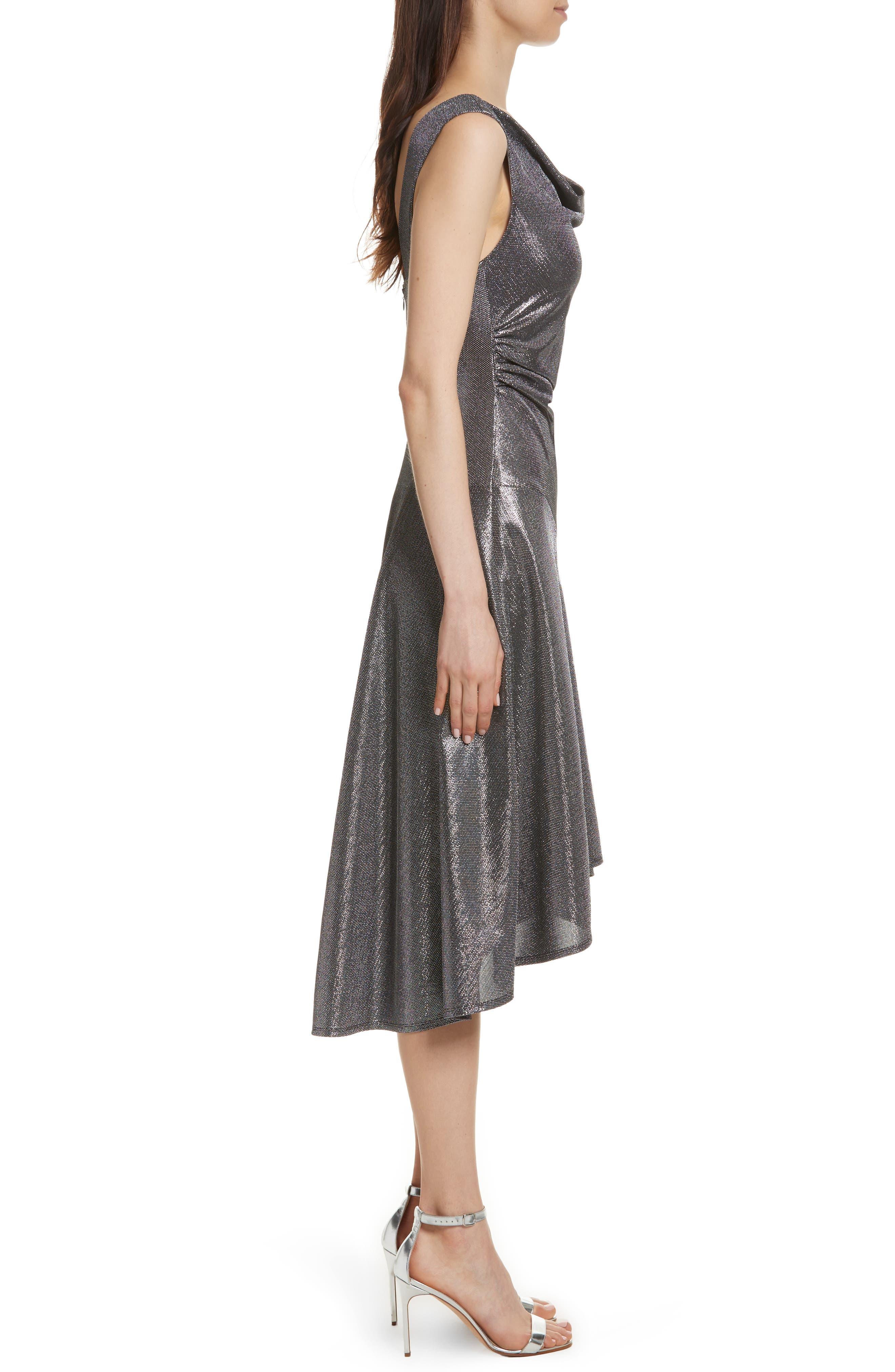 Draped High/Low Dress,                             Alternate thumbnail 3, color,                             045