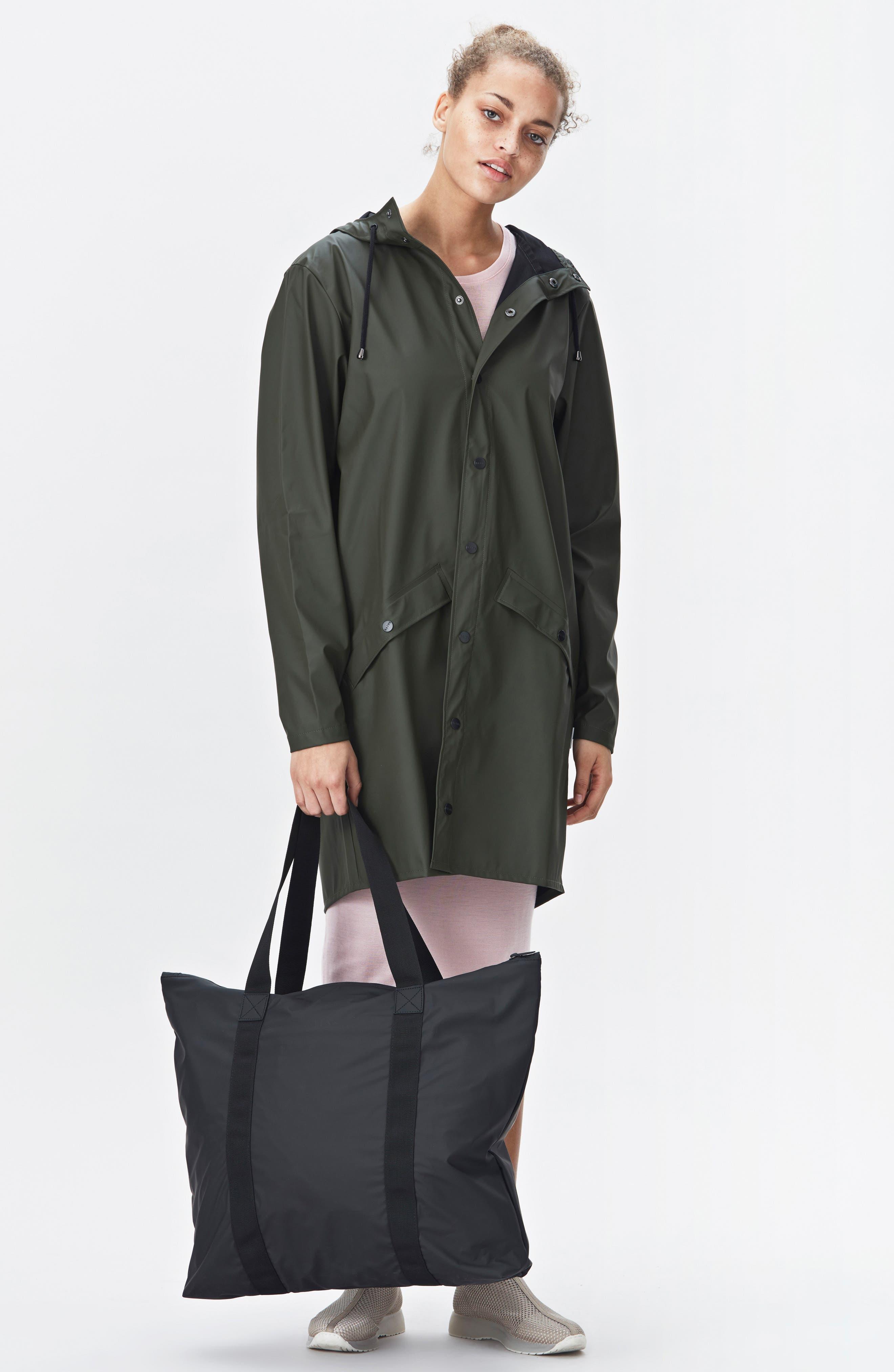 Waterproof Tote Bag,                             Alternate thumbnail 7, color,                             BLACK