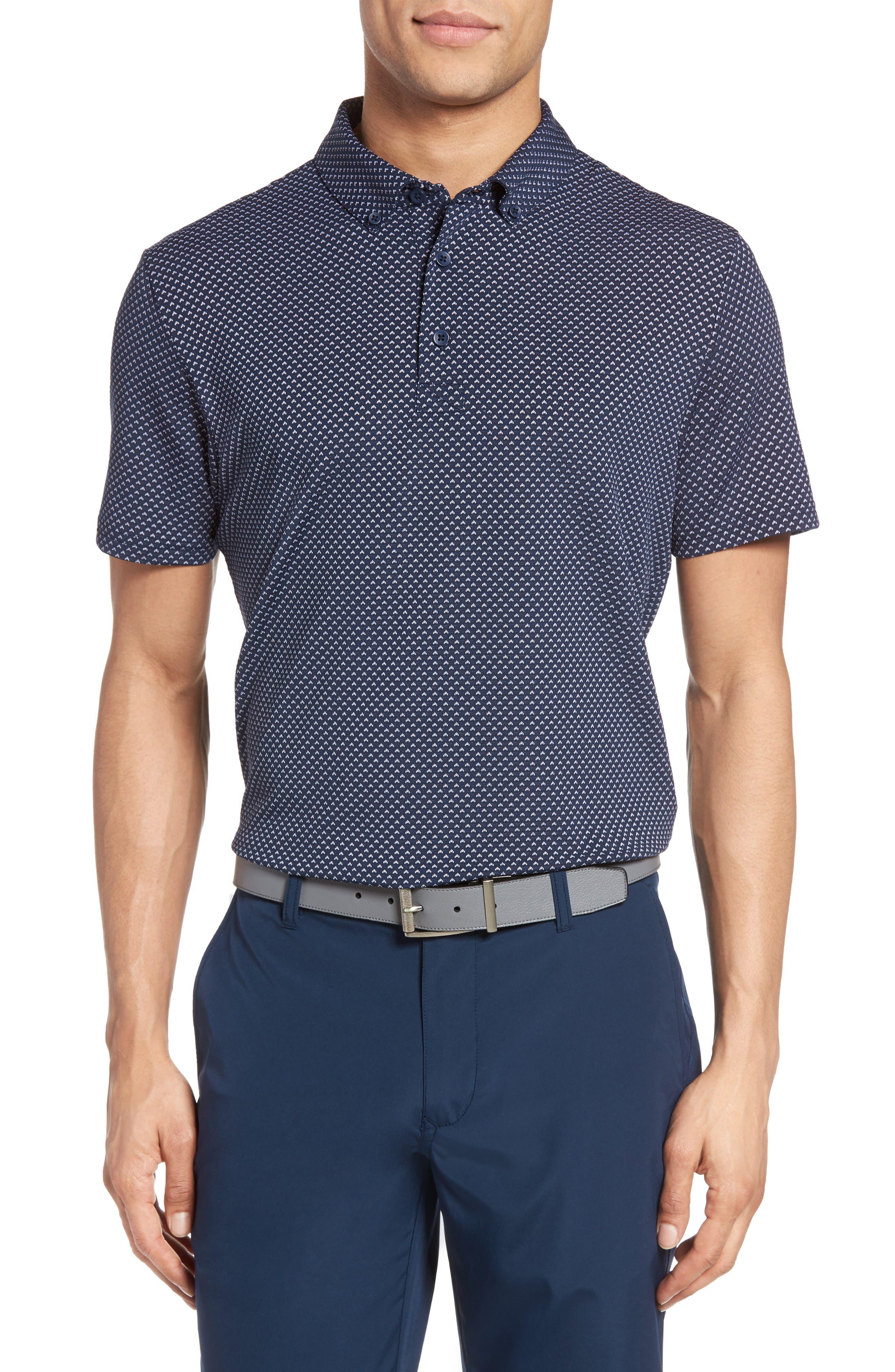 Flatiron Slim Fit Jacquard Jersey Polo,                             Main thumbnail 2, color,