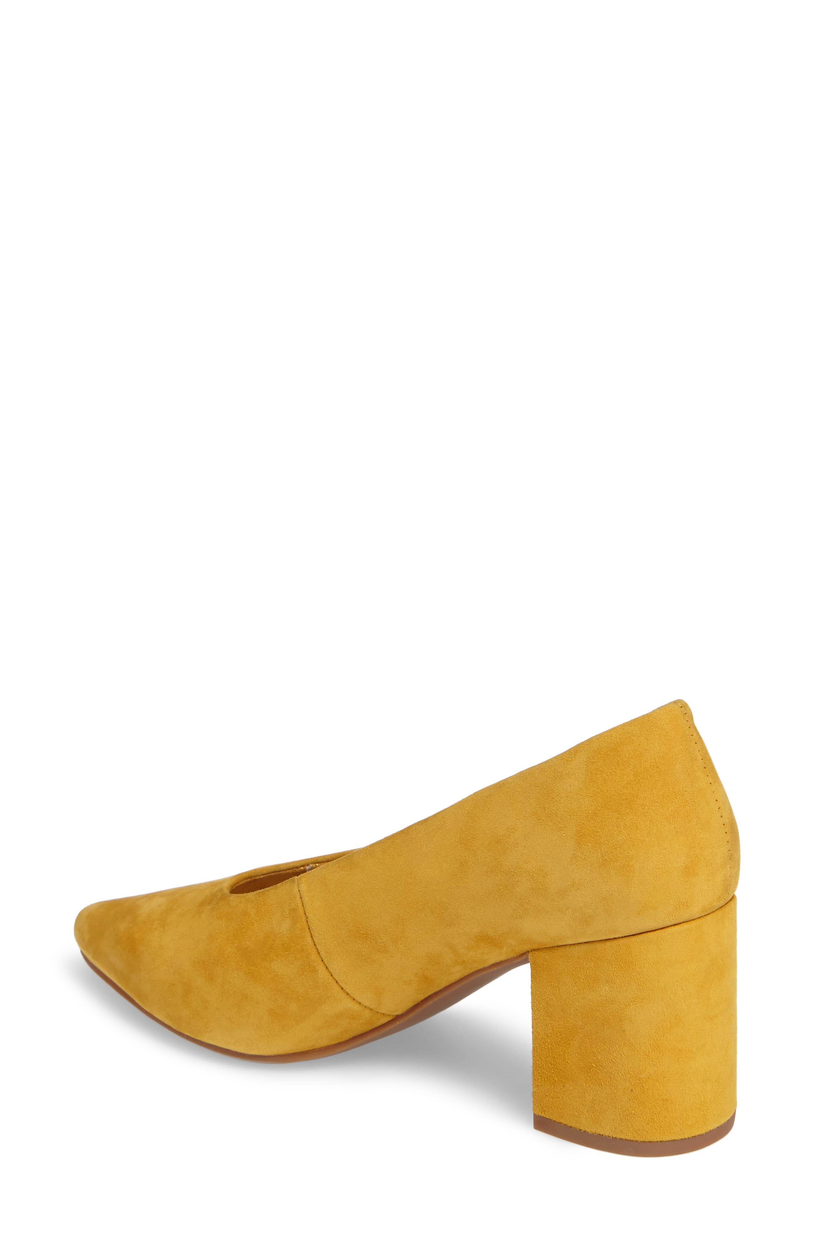 Rehearse Pointy Toe Pump,                             Alternate thumbnail 2, color,                             MUSTARD SUEDE