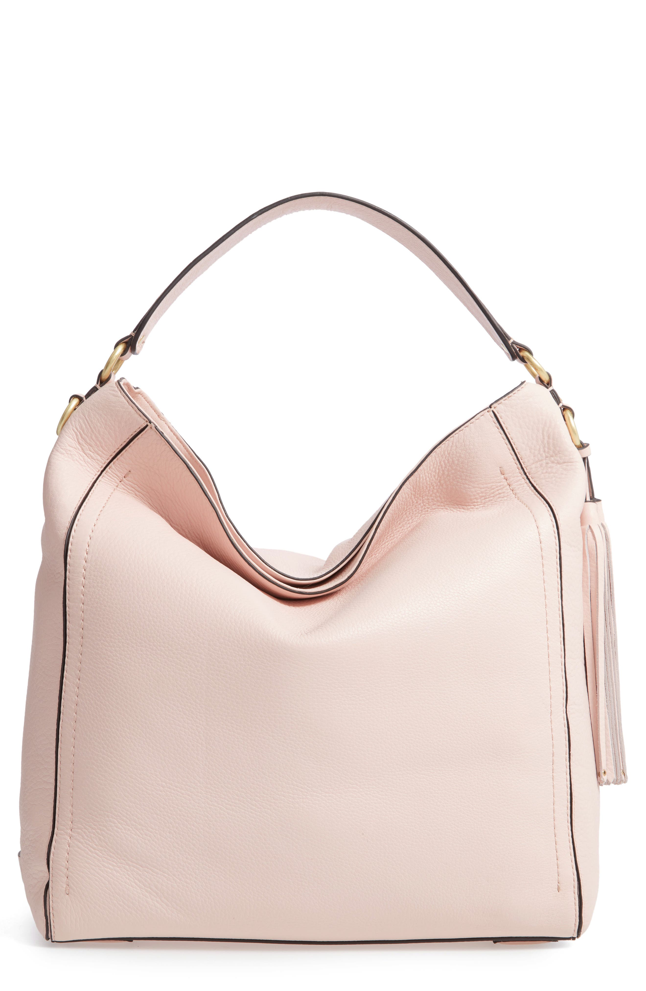 Cassidy RFID Pebbled Leather Bucket Bag,                             Main thumbnail 4, color,