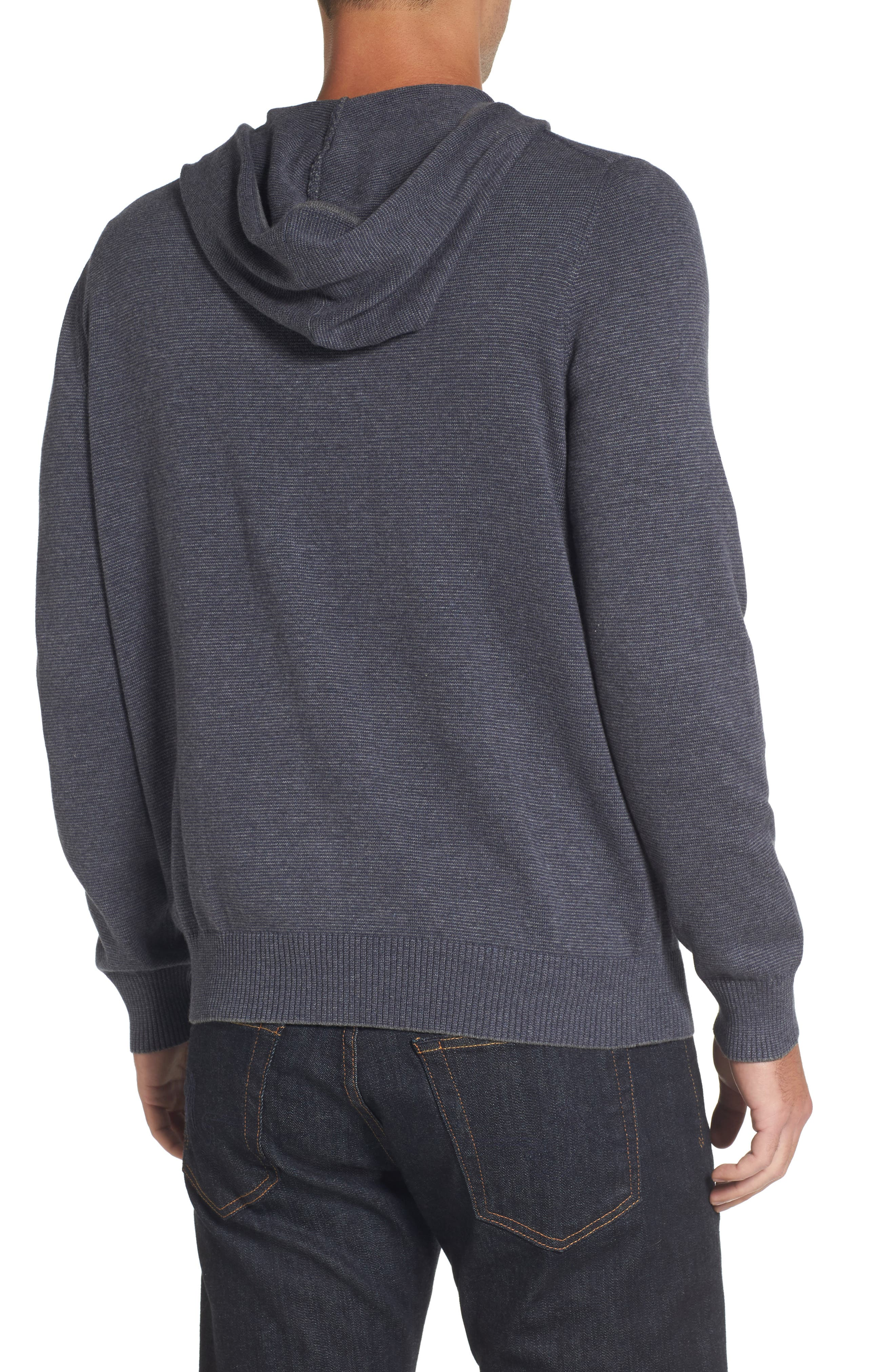 Zip Front Hooded Sweater,                             Alternate thumbnail 5, color,