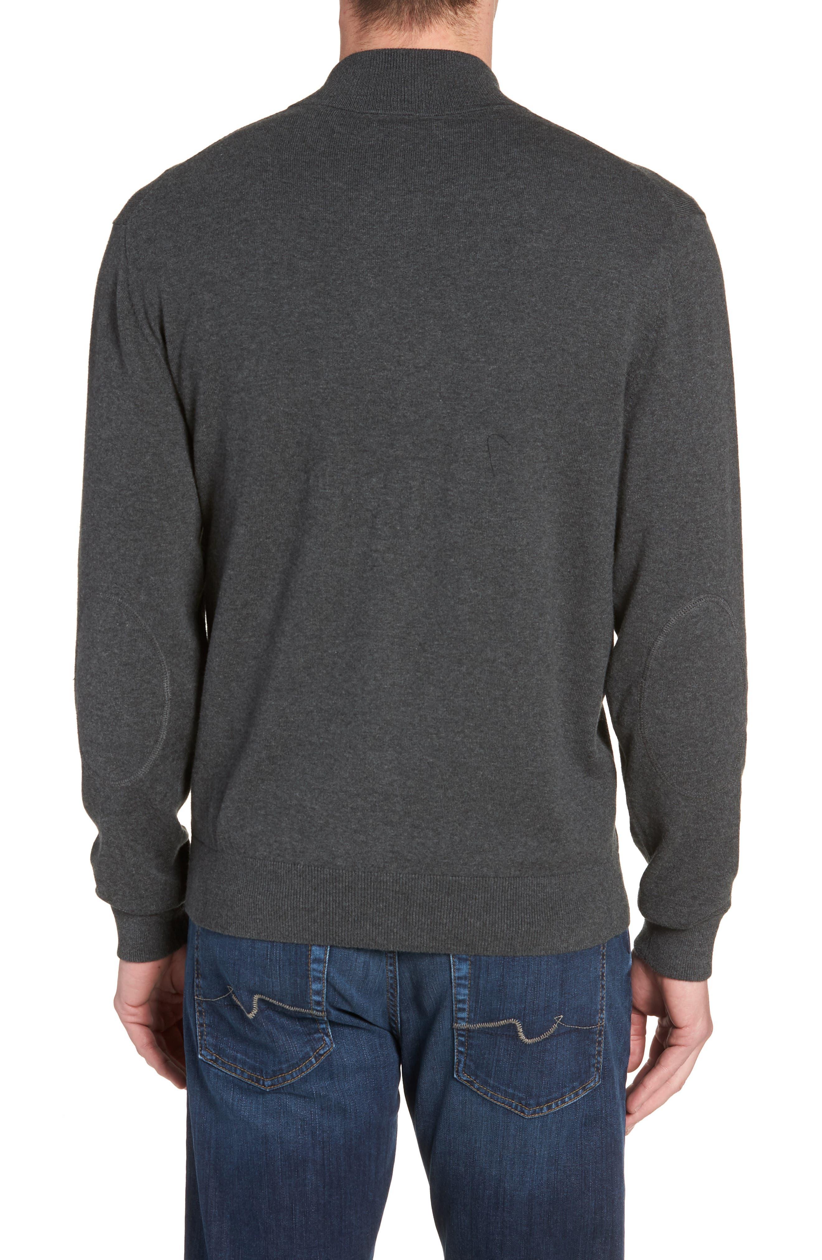 Houston Texans - Lakemont Regular Fit Quarter Zip Sweater,                             Alternate thumbnail 2, color,                             CHARCOAL HEATHER