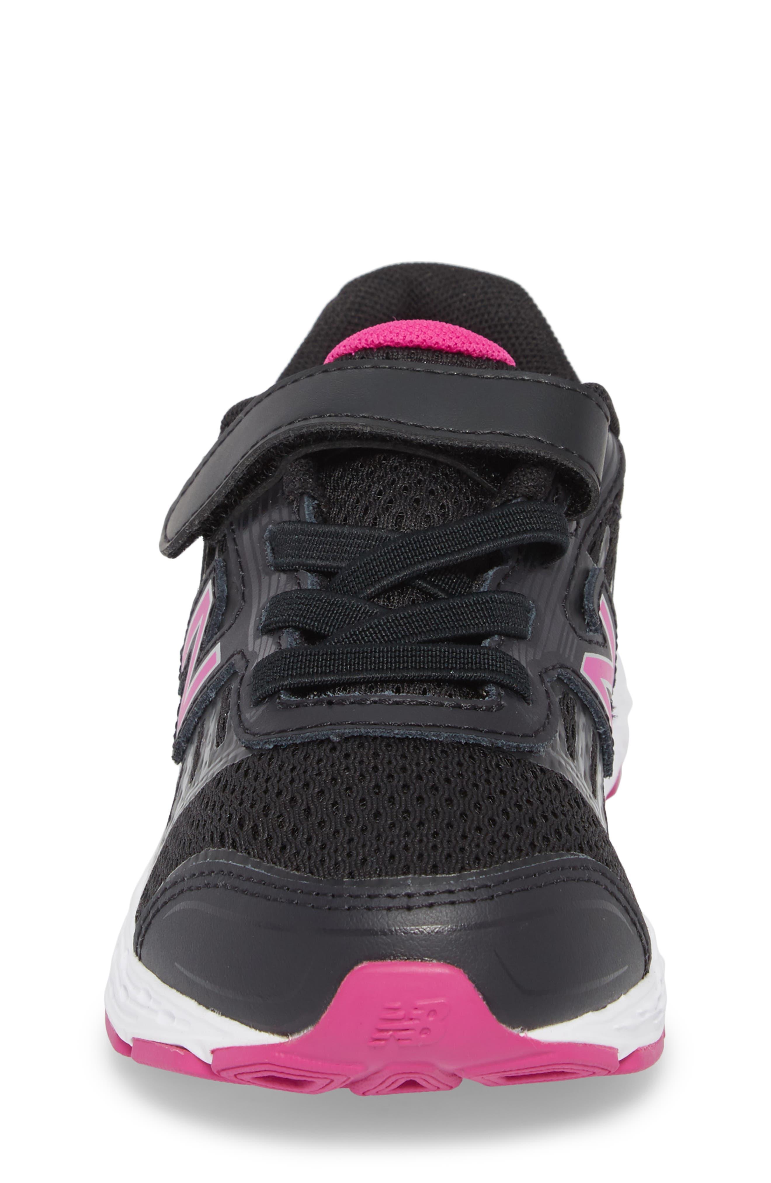 680v5 Sneaker,                             Alternate thumbnail 4, color,                             BLACK/ AZALEA