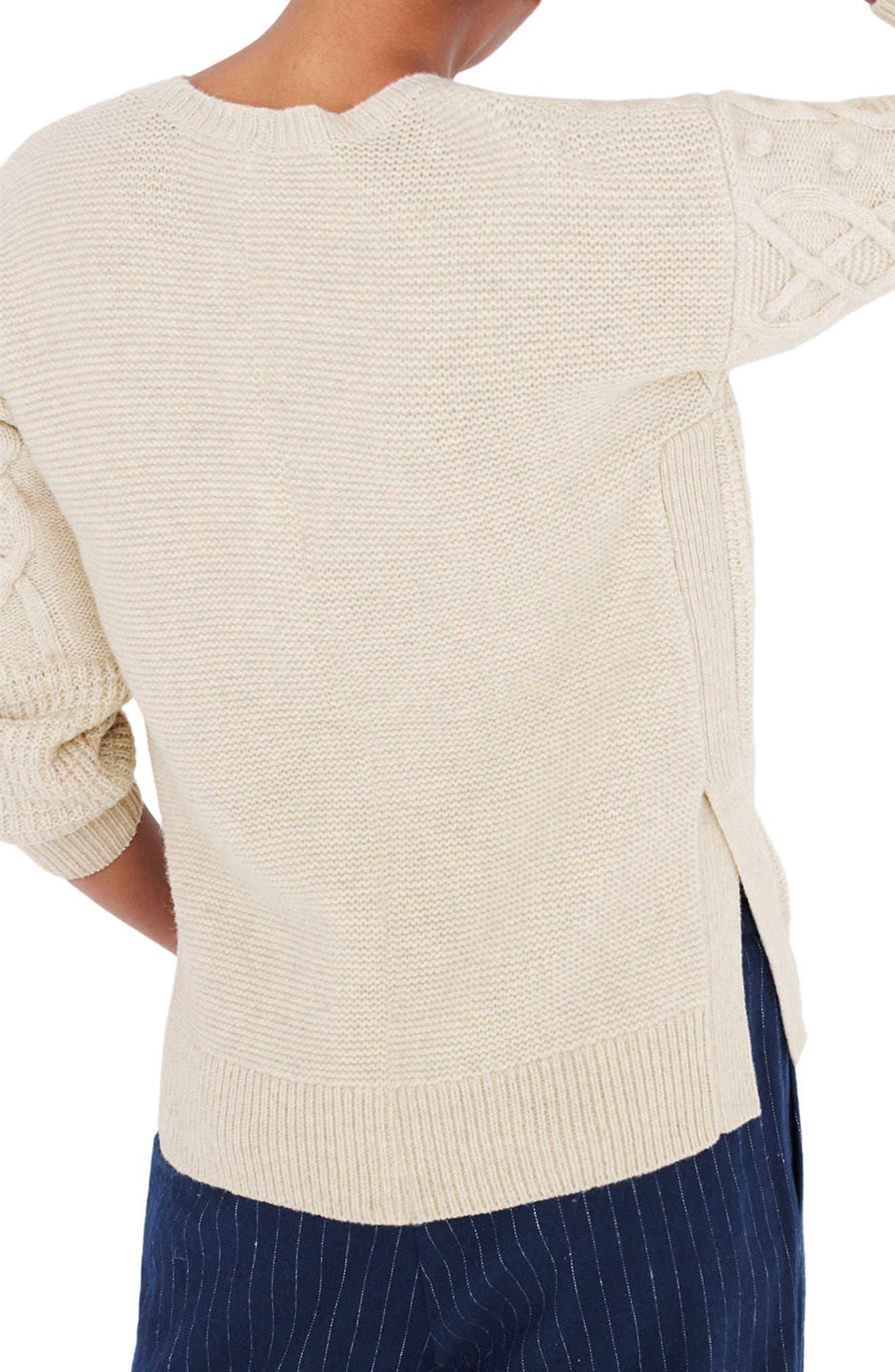 Open Side Bobble Pullover Sweater,                             Alternate thumbnail 2, color,                             020