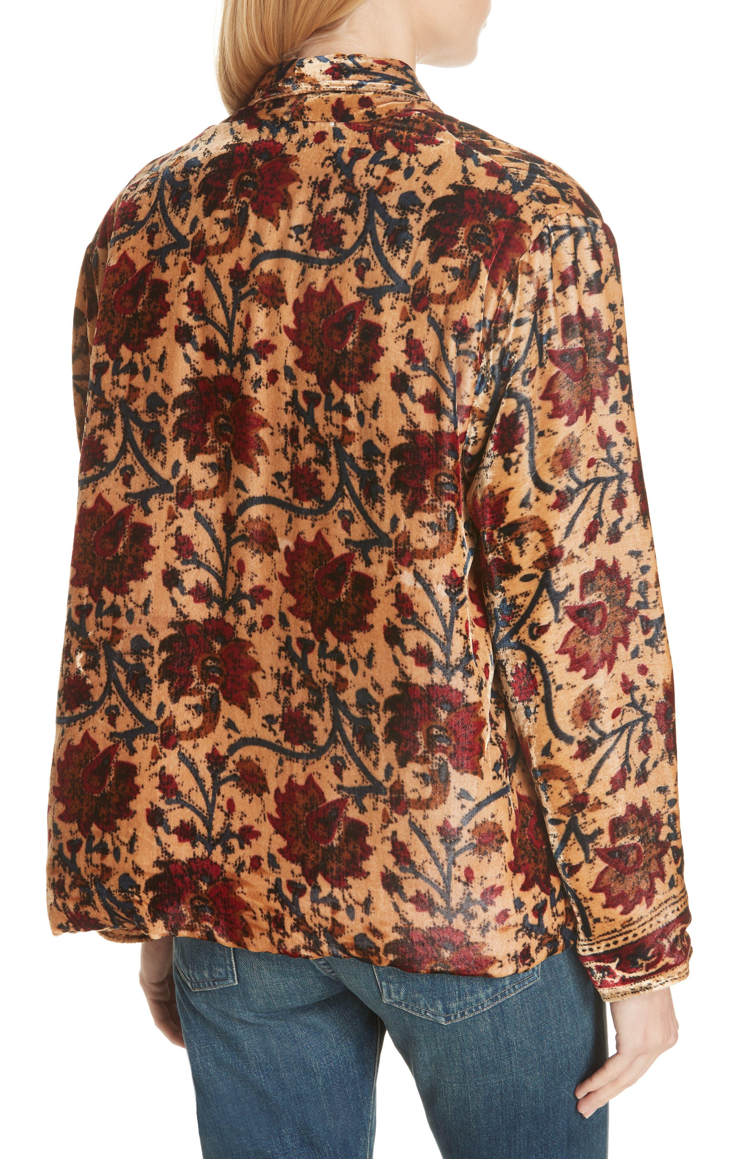 Charles Floral Cotton Velvet Jacket,                             Alternate thumbnail 2, color,                             291