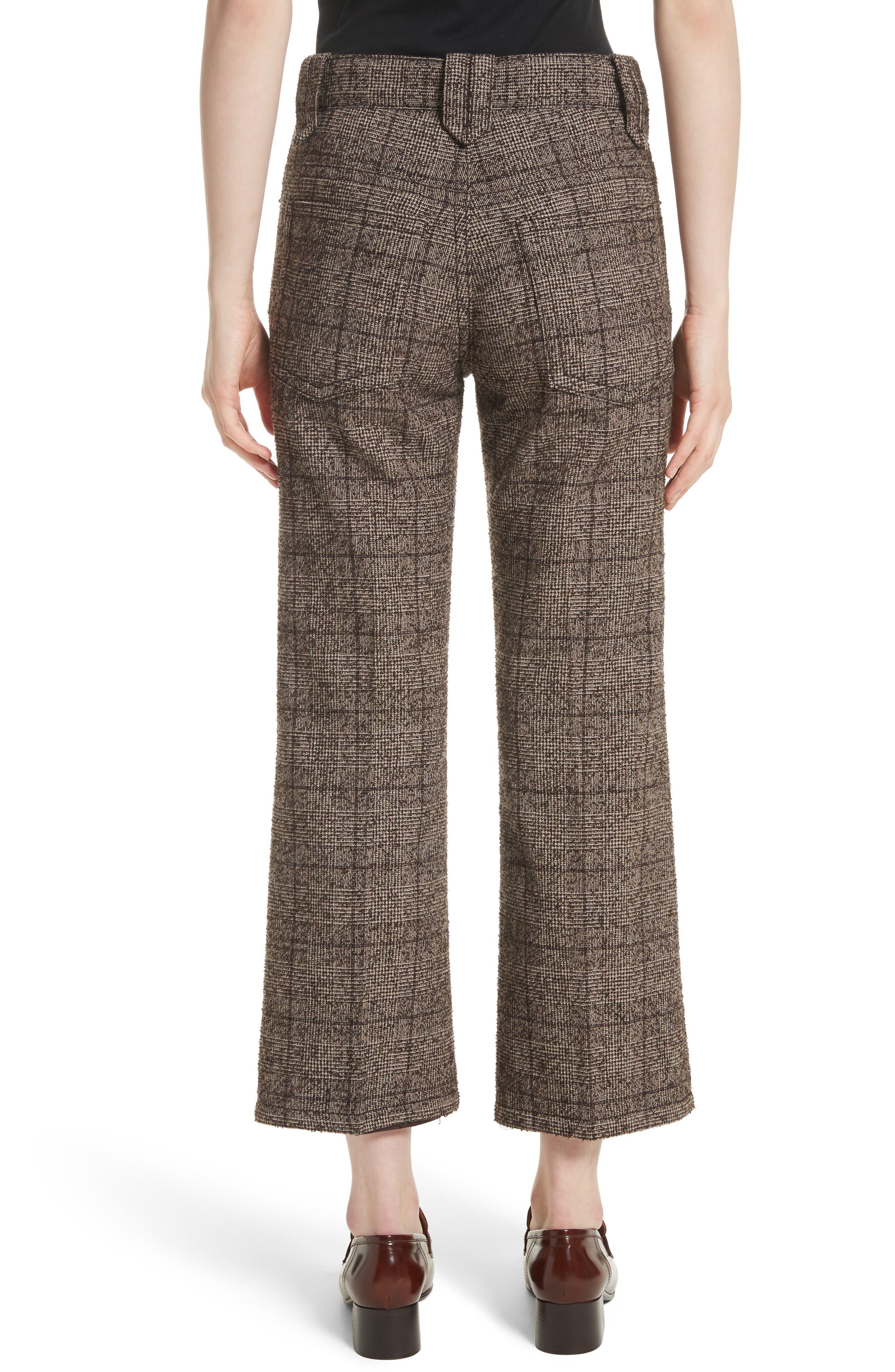 Plaid Tweed Crop Pants,                             Alternate thumbnail 2, color,                             201