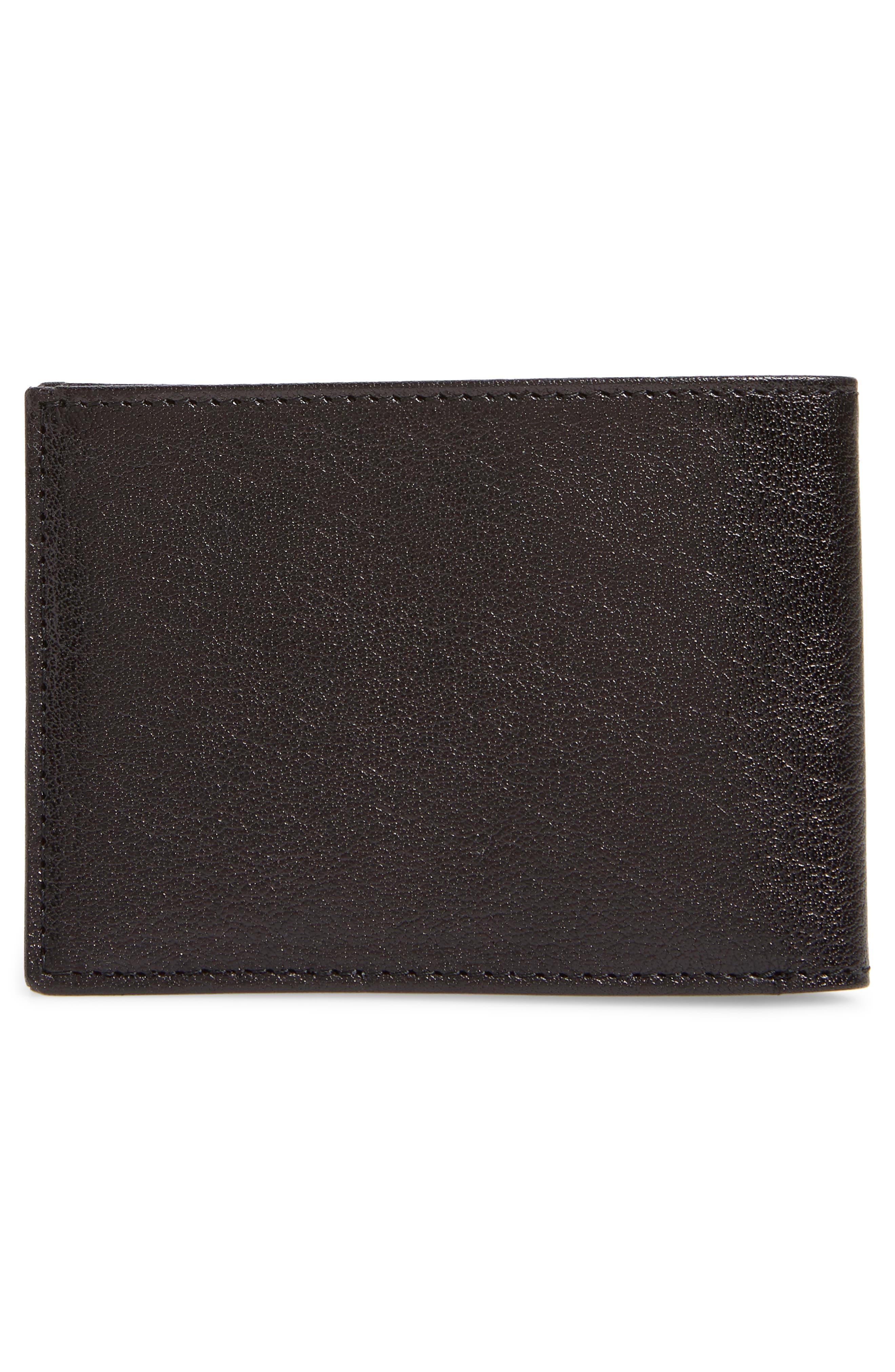 Landon Slim Leather Wallet,                             Alternate thumbnail 3, color,                             001