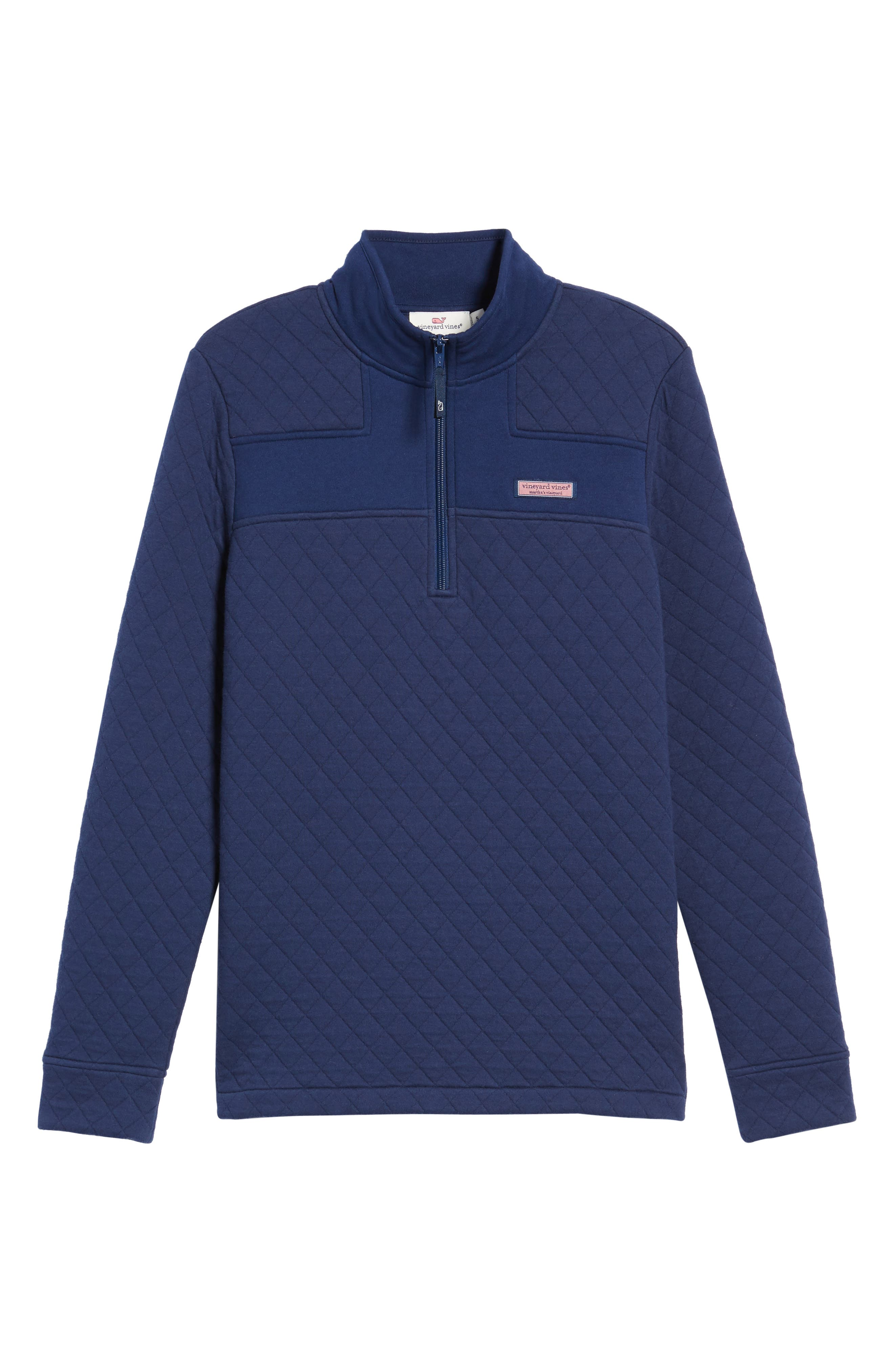 Shep Quilted Quarter Zip Pullover,                             Alternate thumbnail 18, color,