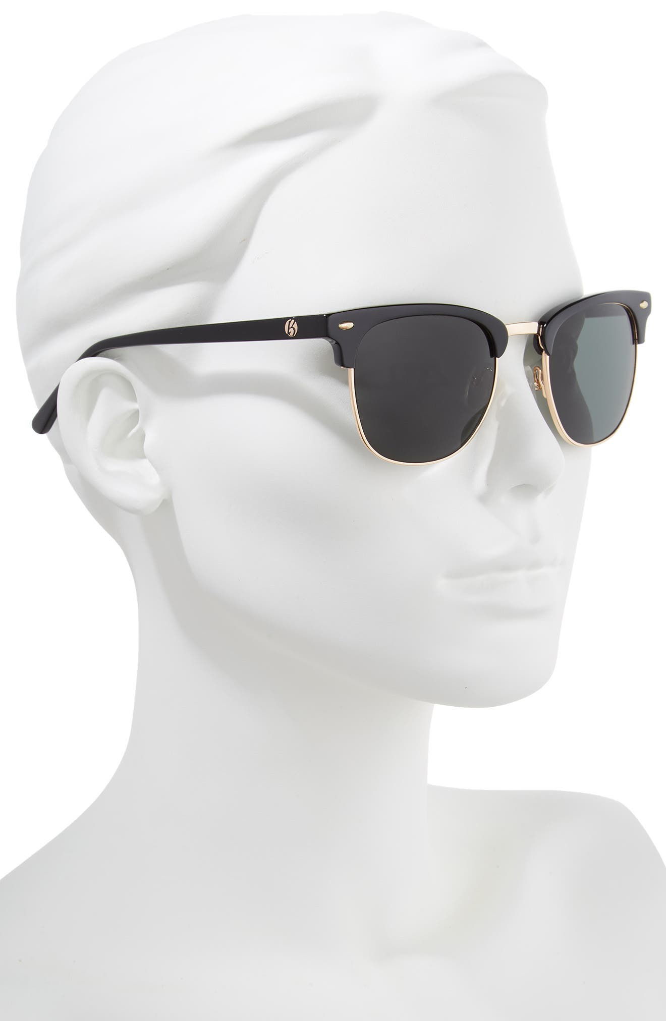 Copeland 51mm Sunglasses,                             Alternate thumbnail 2, color,                             BLACK/ GREY