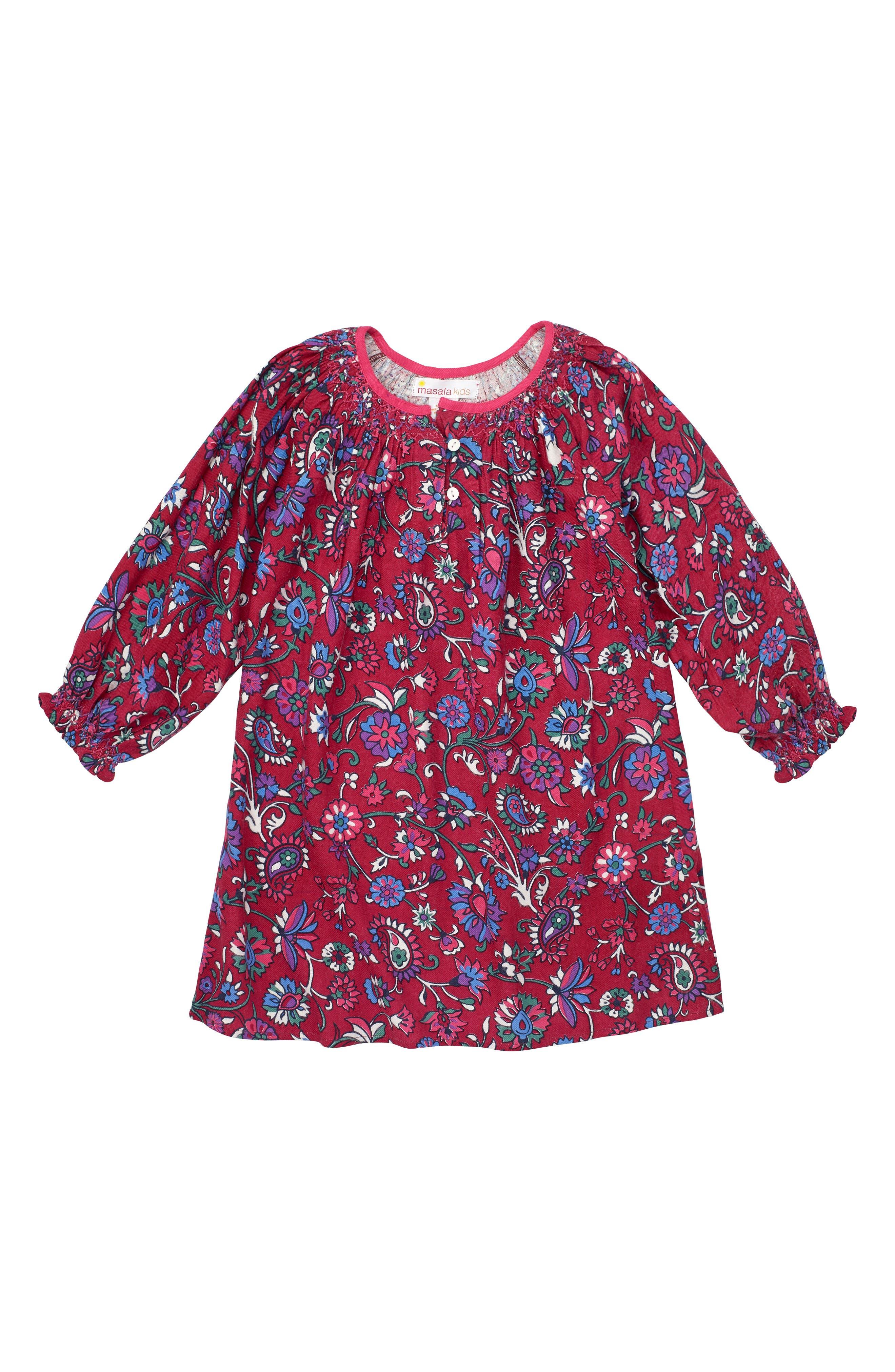 Ada Floral Dress,                             Alternate thumbnail 3, color,                             500
