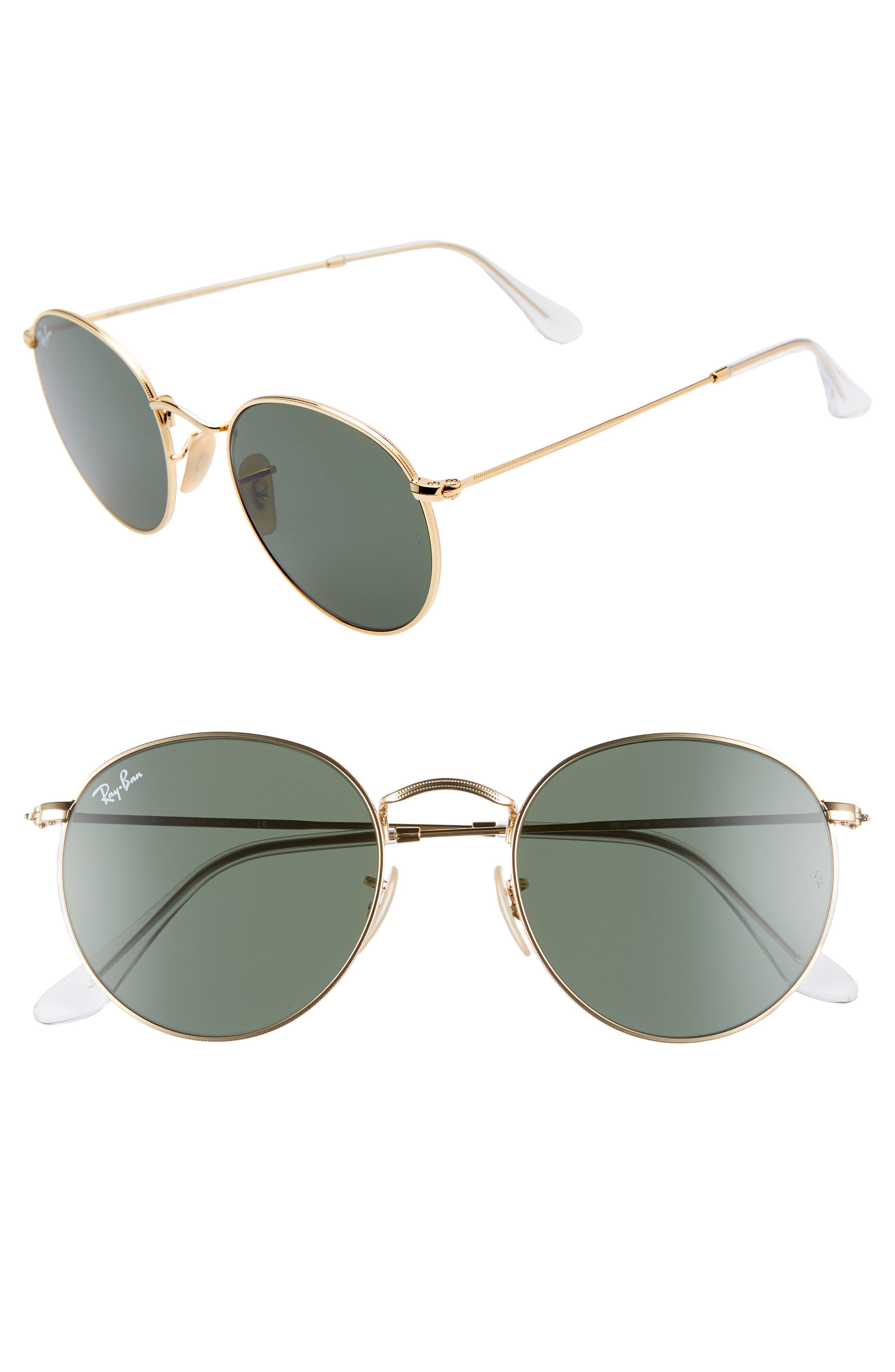 Ray-Ban 5m Round Sunglasses - Gold/ Green Gold