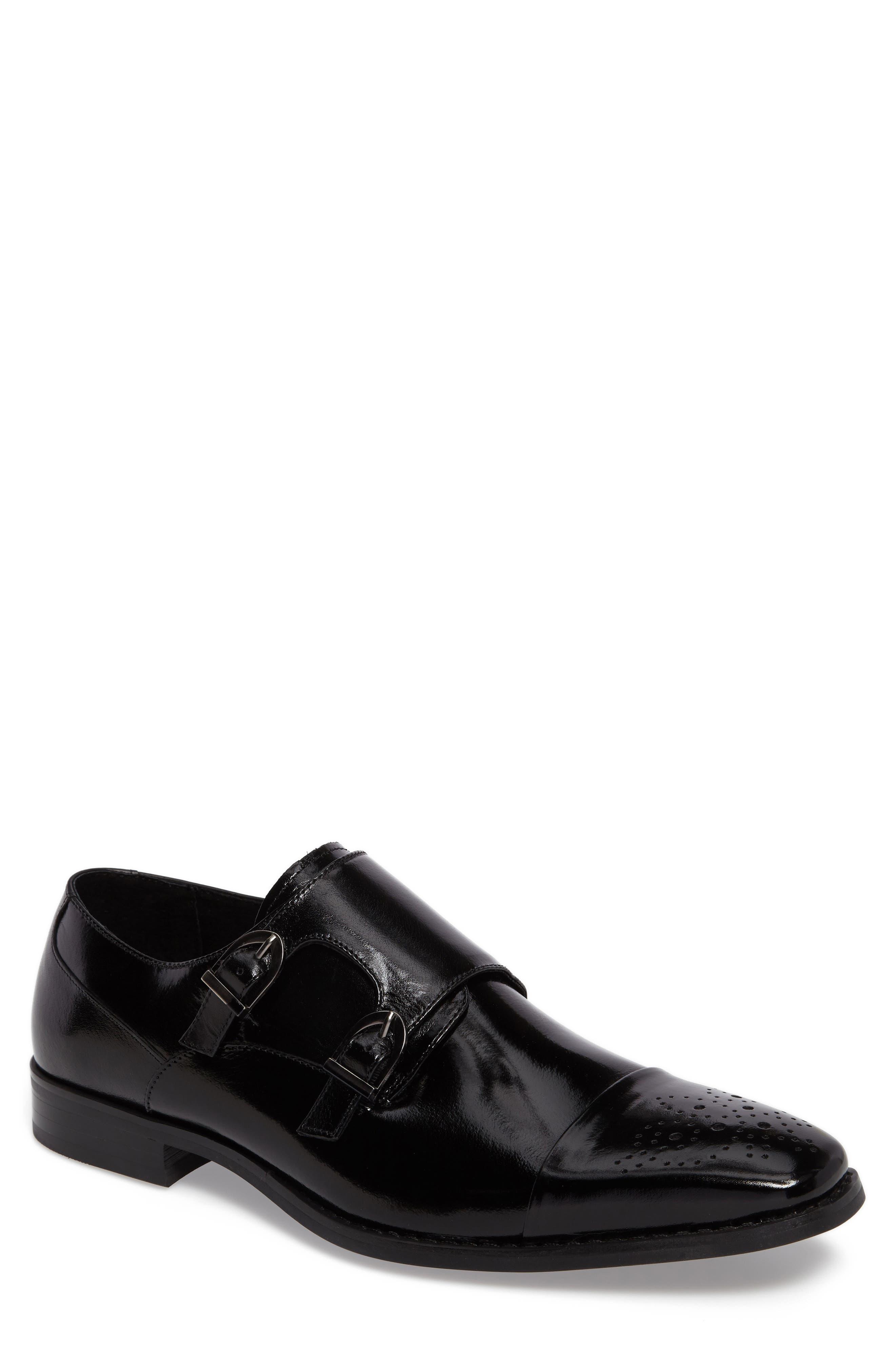 Trevor Double Monk Strap Shoe,                             Main thumbnail 1, color,                             001