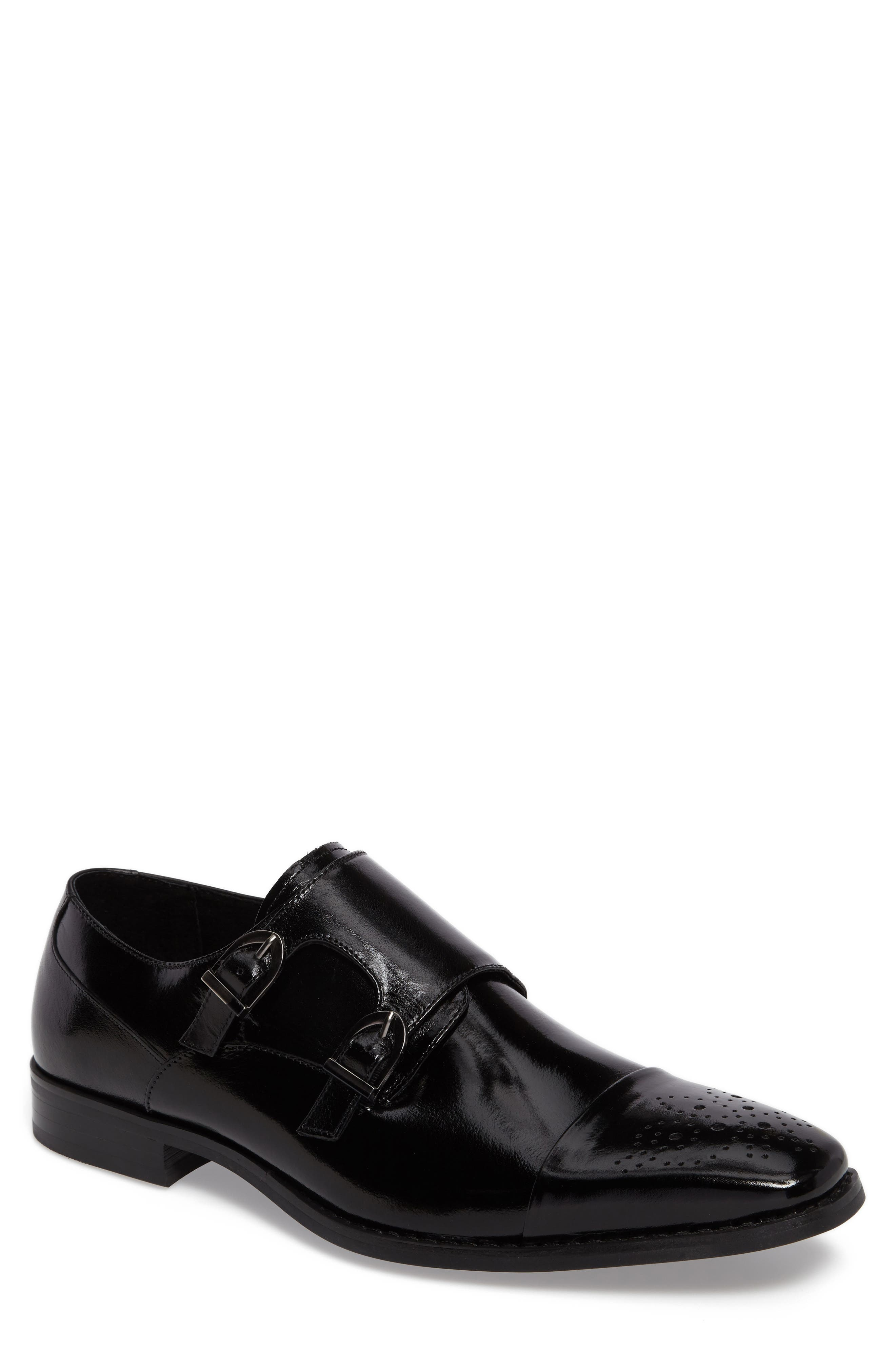 Trevor Double Monk Strap Shoe,                         Main,                         color, 001