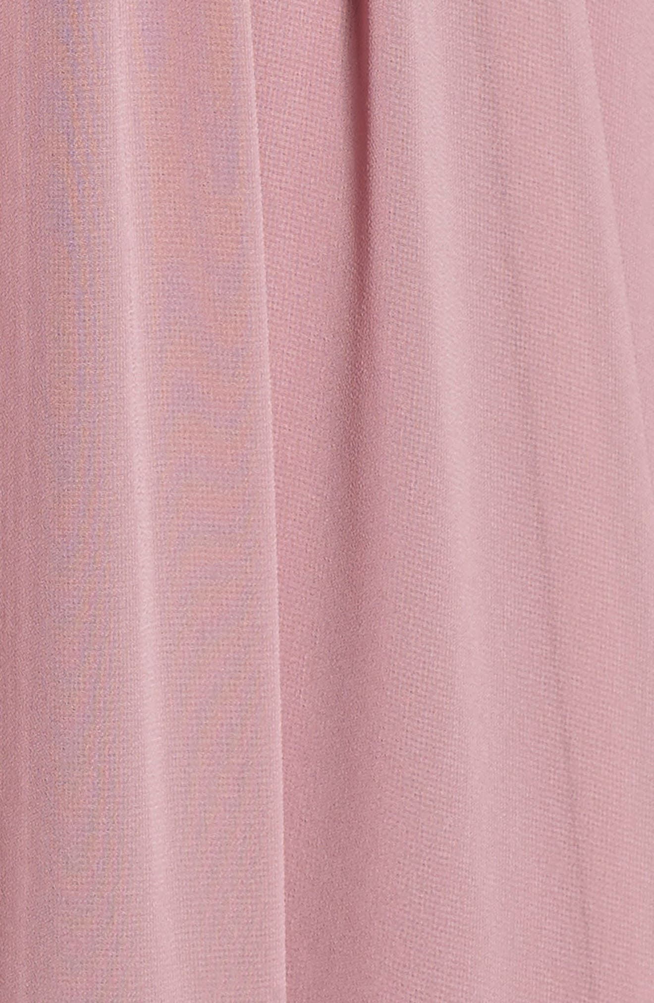Knot Strap Chiffon Wrap Gown,                             Alternate thumbnail 6, color,                             650