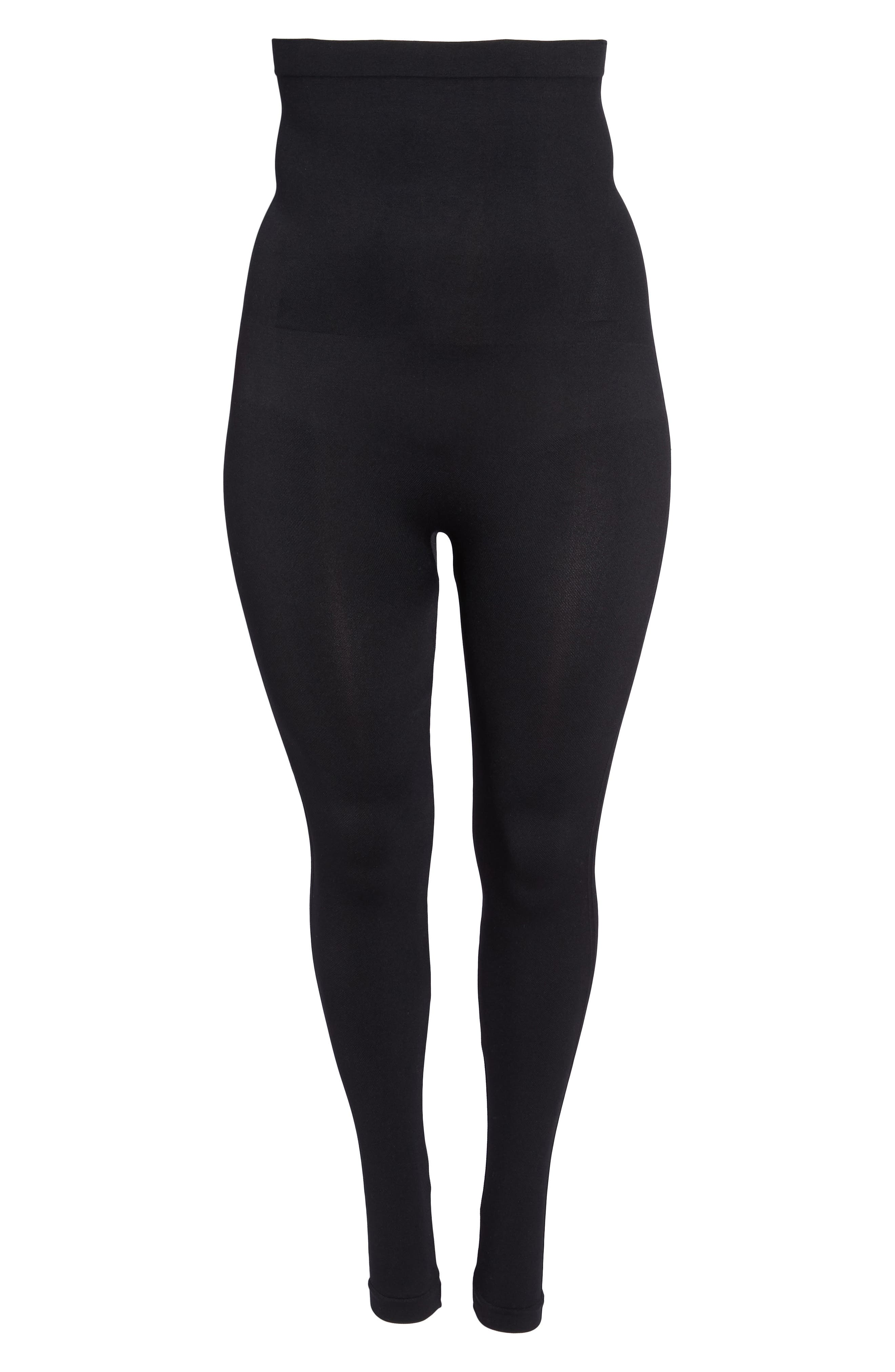 Look At Me Now Seamless Leggings,                             Alternate thumbnail 6, color,                             VERY BLACK