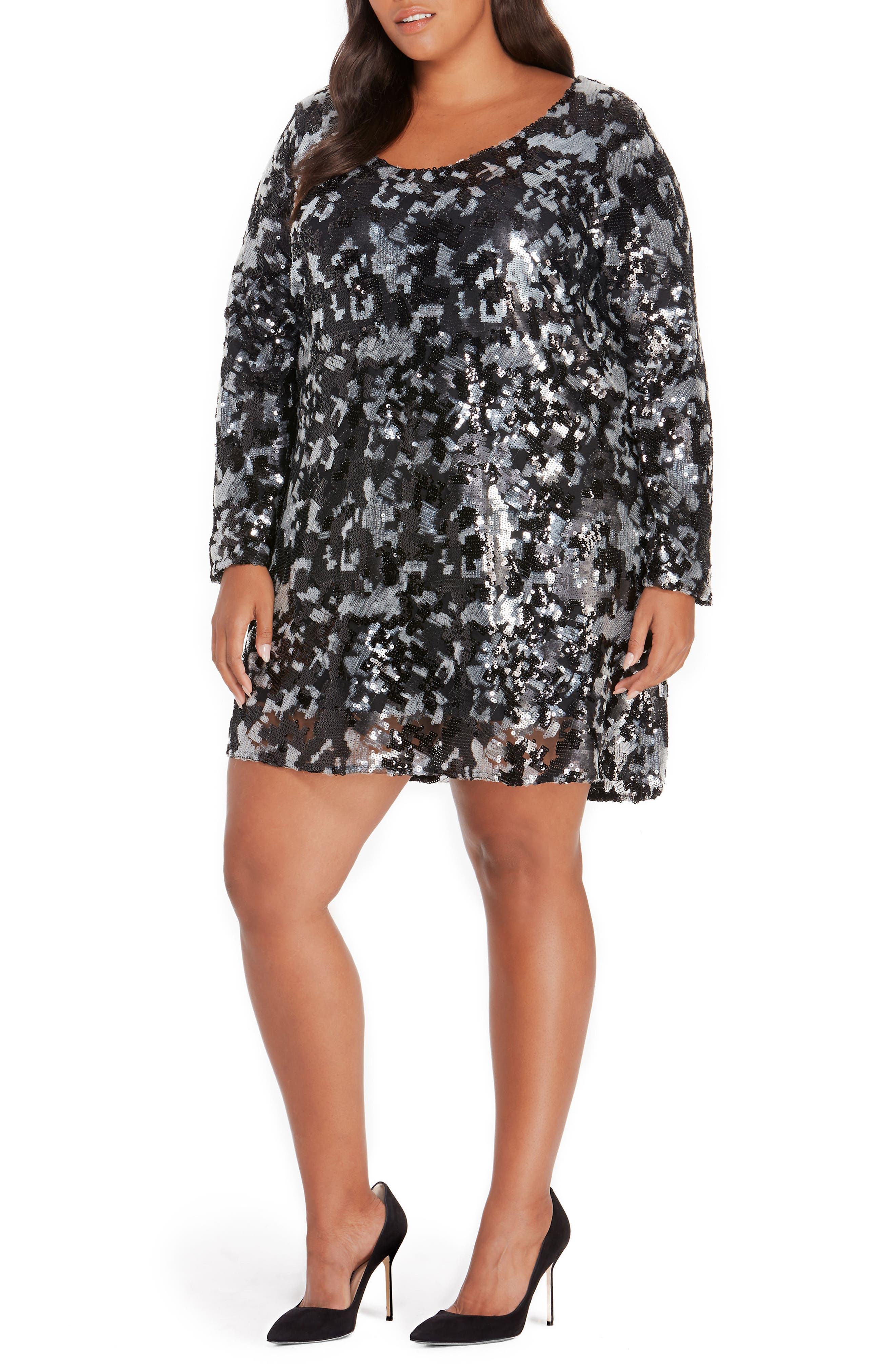 Sequin Dress,                         Main,                         color, 009