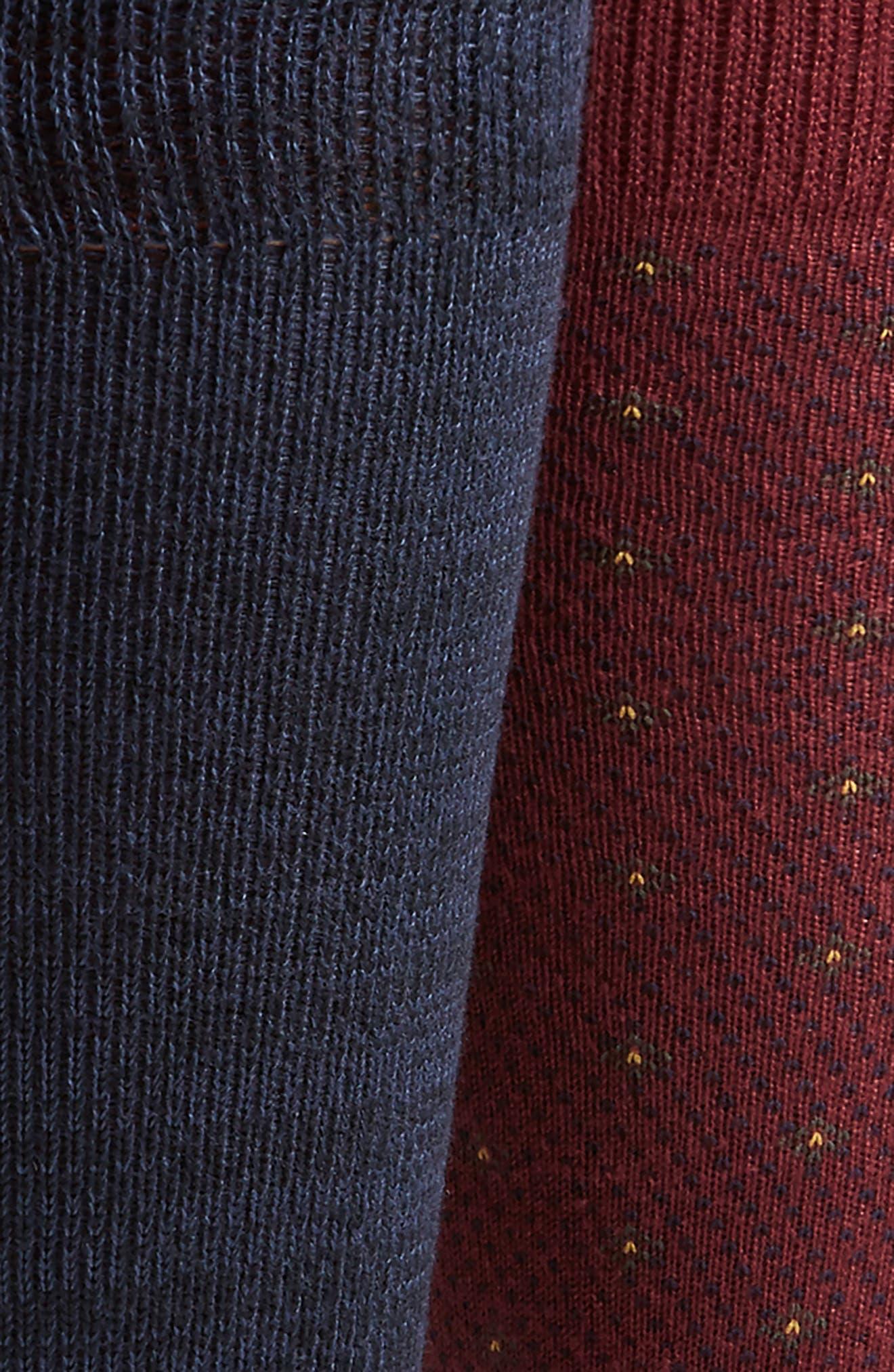 Supersoft Diamond Dot Assorted 3-Pack Socks,                             Alternate thumbnail 3, color,                             937