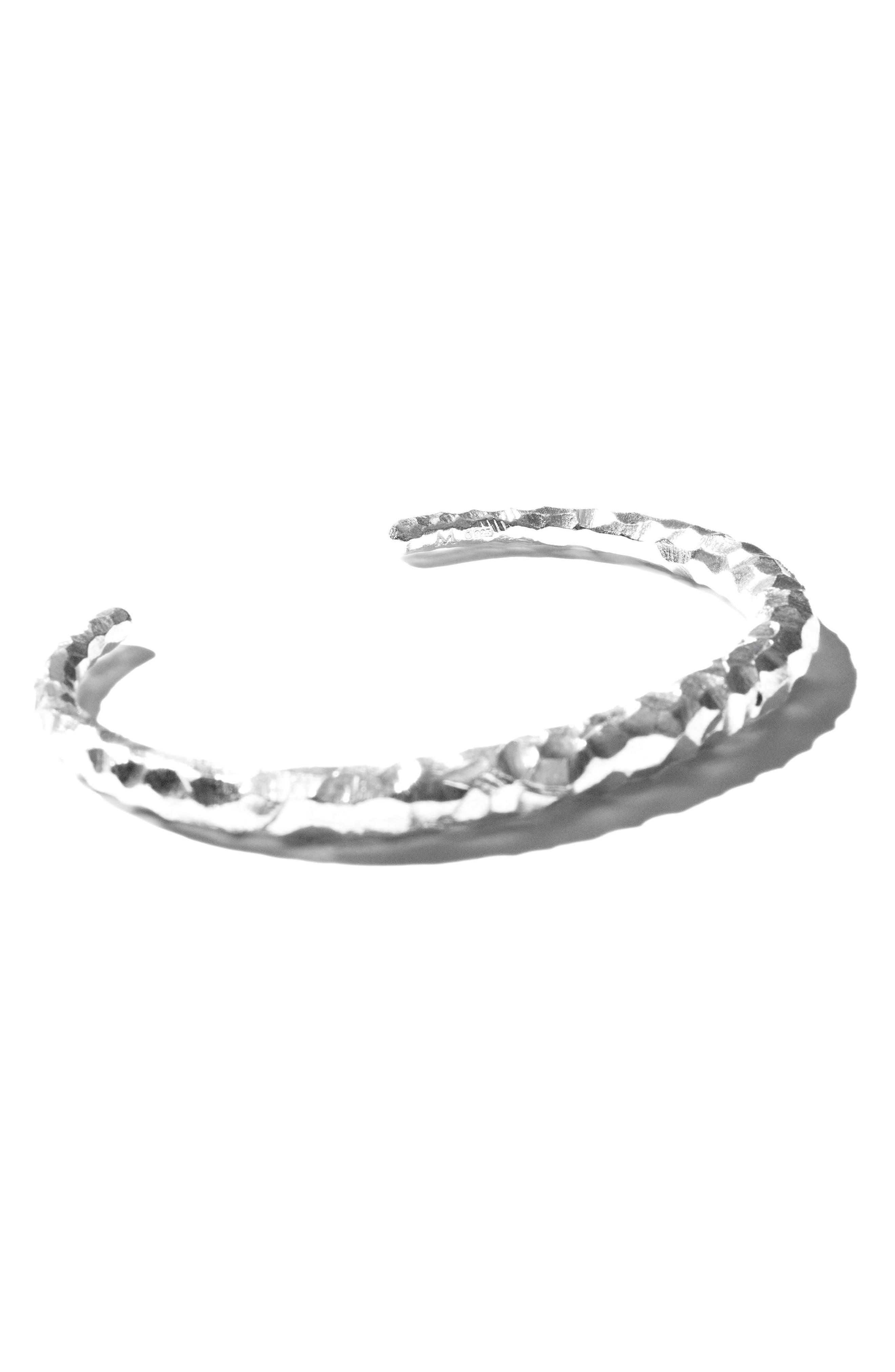 Large Snake Carved Silver Bracelet,                             Alternate thumbnail 7, color,                             CARVED SILVER
