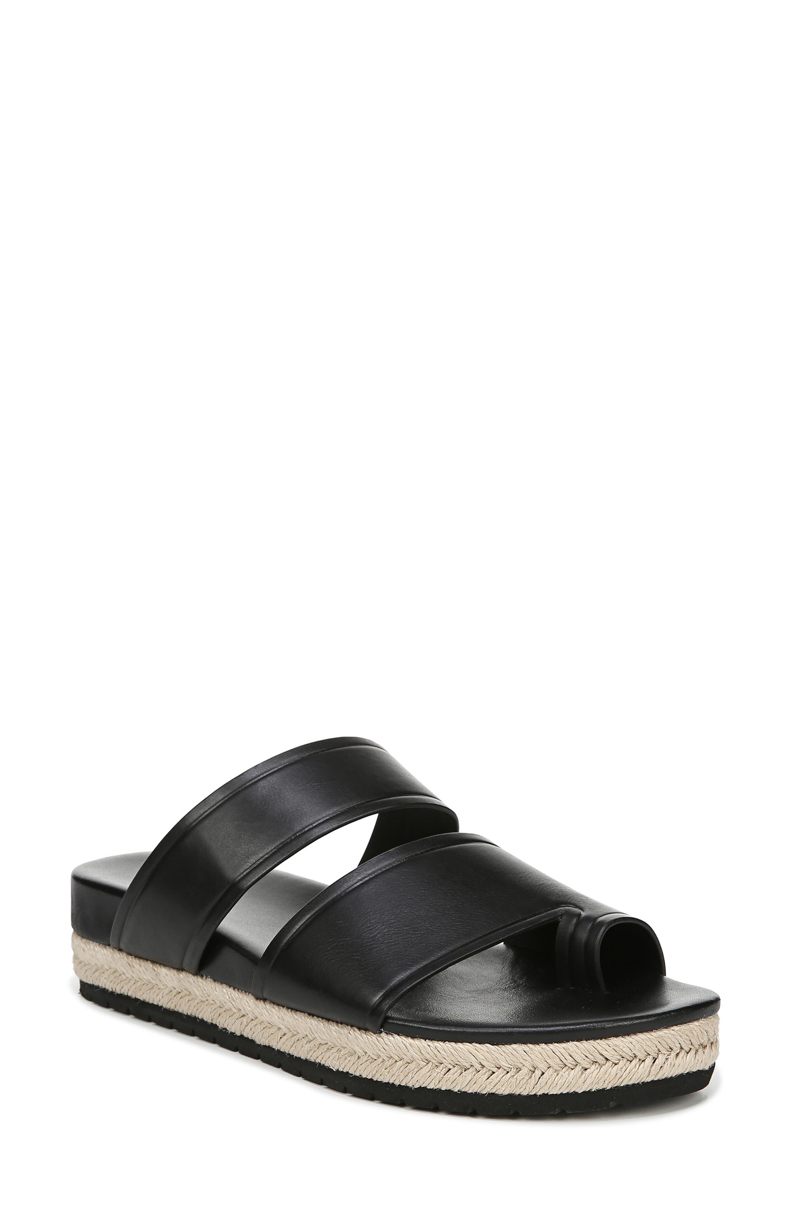 VINCE Floyd Platform Slide Sandal, Main, color, BLACK