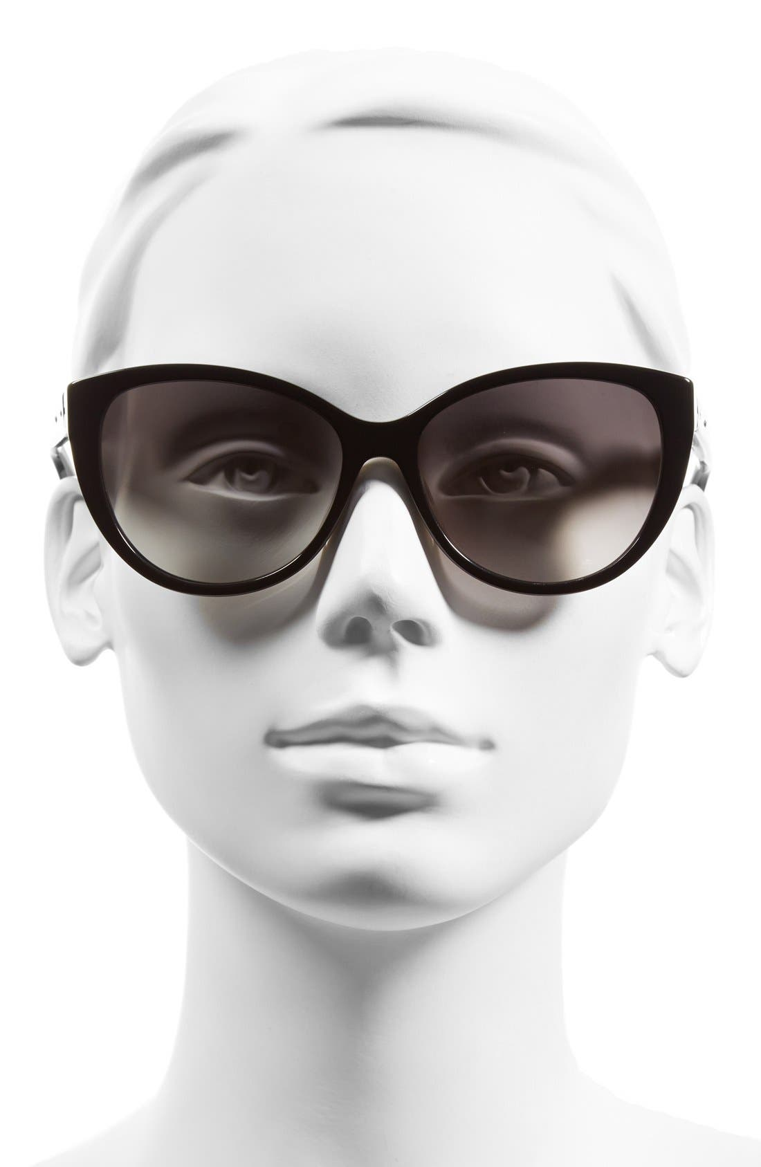 'The Marylins' 56mm Cat Eye Sunglasses,                             Alternate thumbnail 2, color,                             001