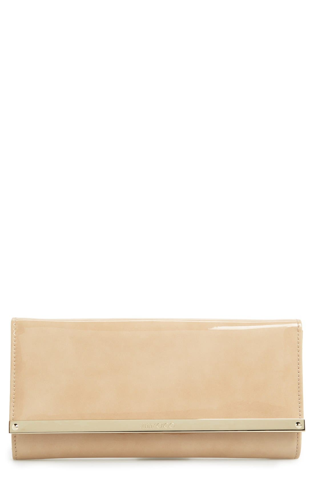 'Milla' Patent Leather Wallet on a Chain,                         Main,                         color,