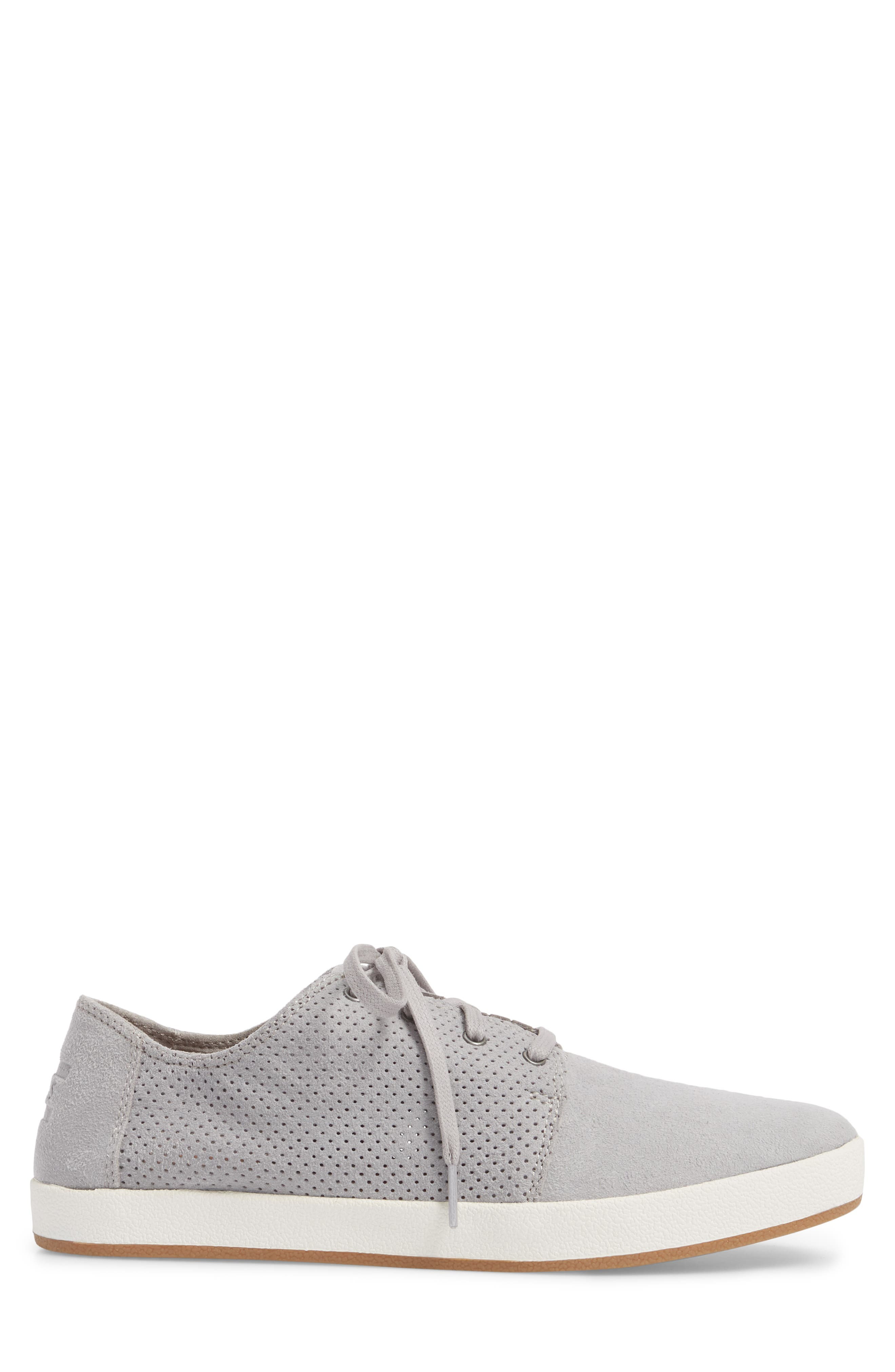Payton Perforated Sneaker,                             Alternate thumbnail 3, color,                             DRIZZLE GREY PERFORATED