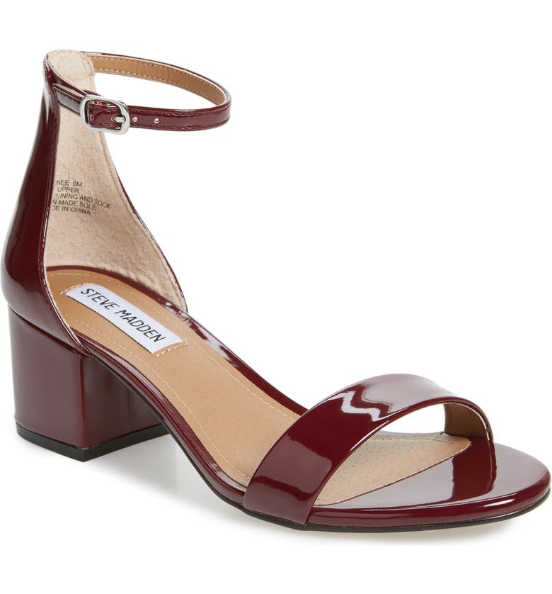 4cfa6f35d1 Irenee Ankle Strap Sandal, Main, color, BURGUNDY PATENT LEATHER