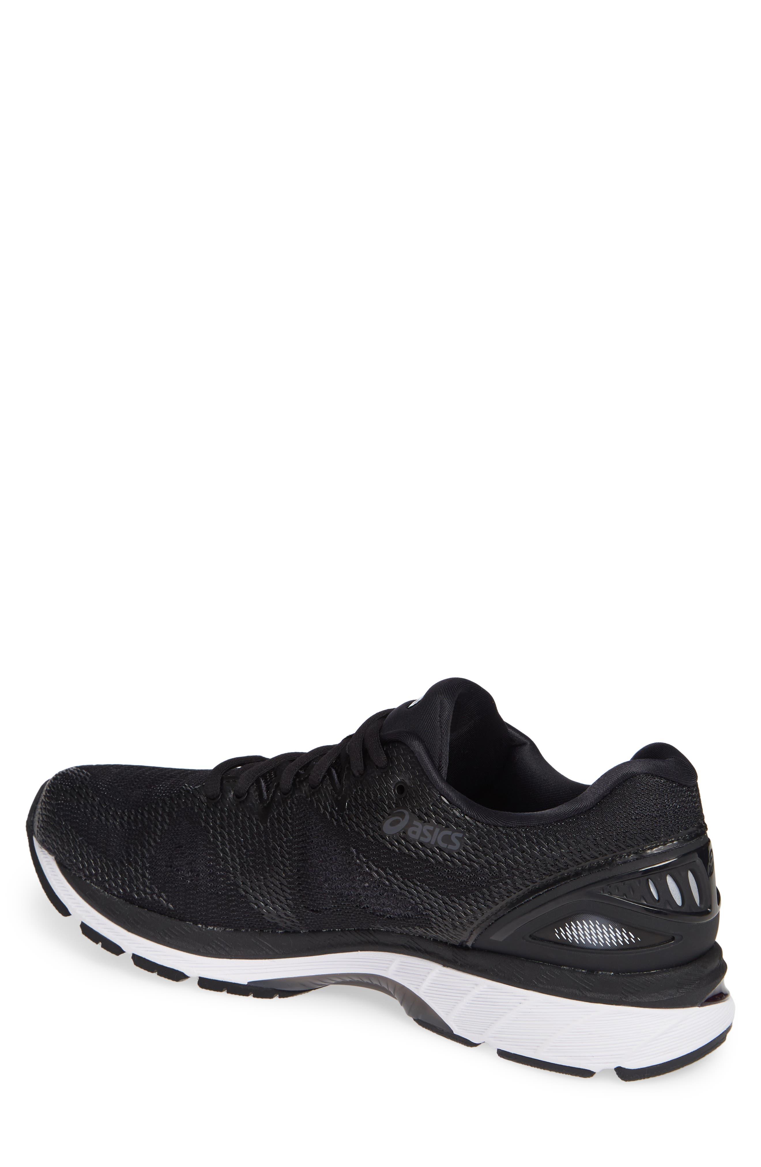 GEL<sup>®</sup>-Nimbus 20 Running Shoe,                             Alternate thumbnail 2, color,                             BLACK/ WHITE/ CARBON