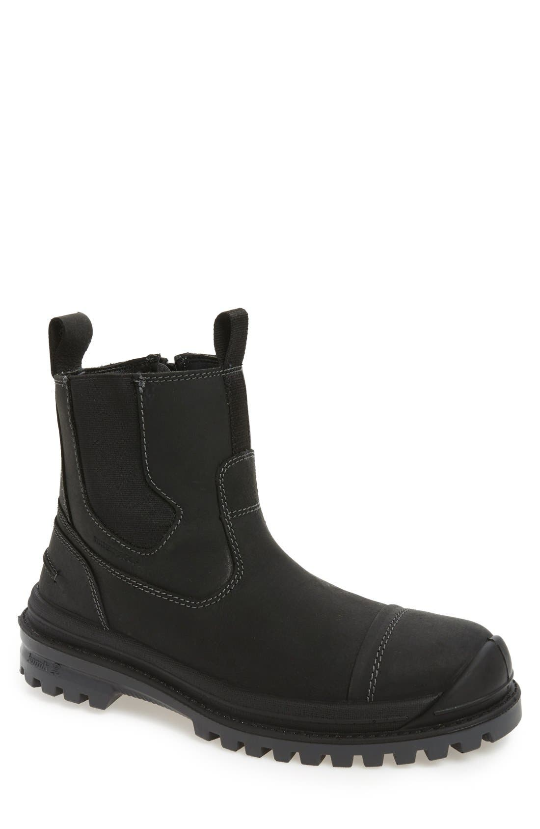 Griffon Snow Waterproof Boot,                             Main thumbnail 1, color,                             BLACK LEATHER