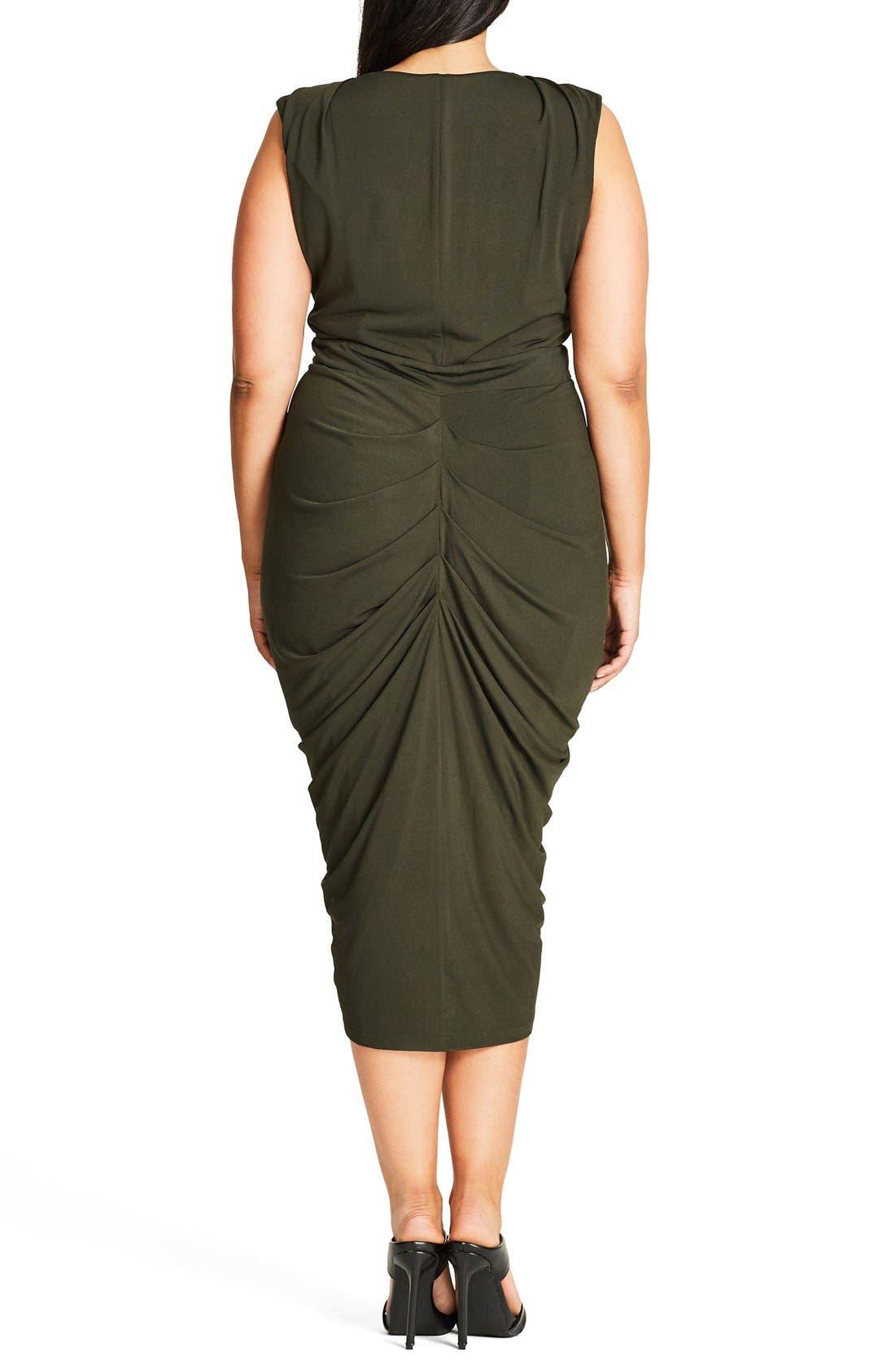 Sexy Drape Midi Dress,                             Alternate thumbnail 2, color,                             311