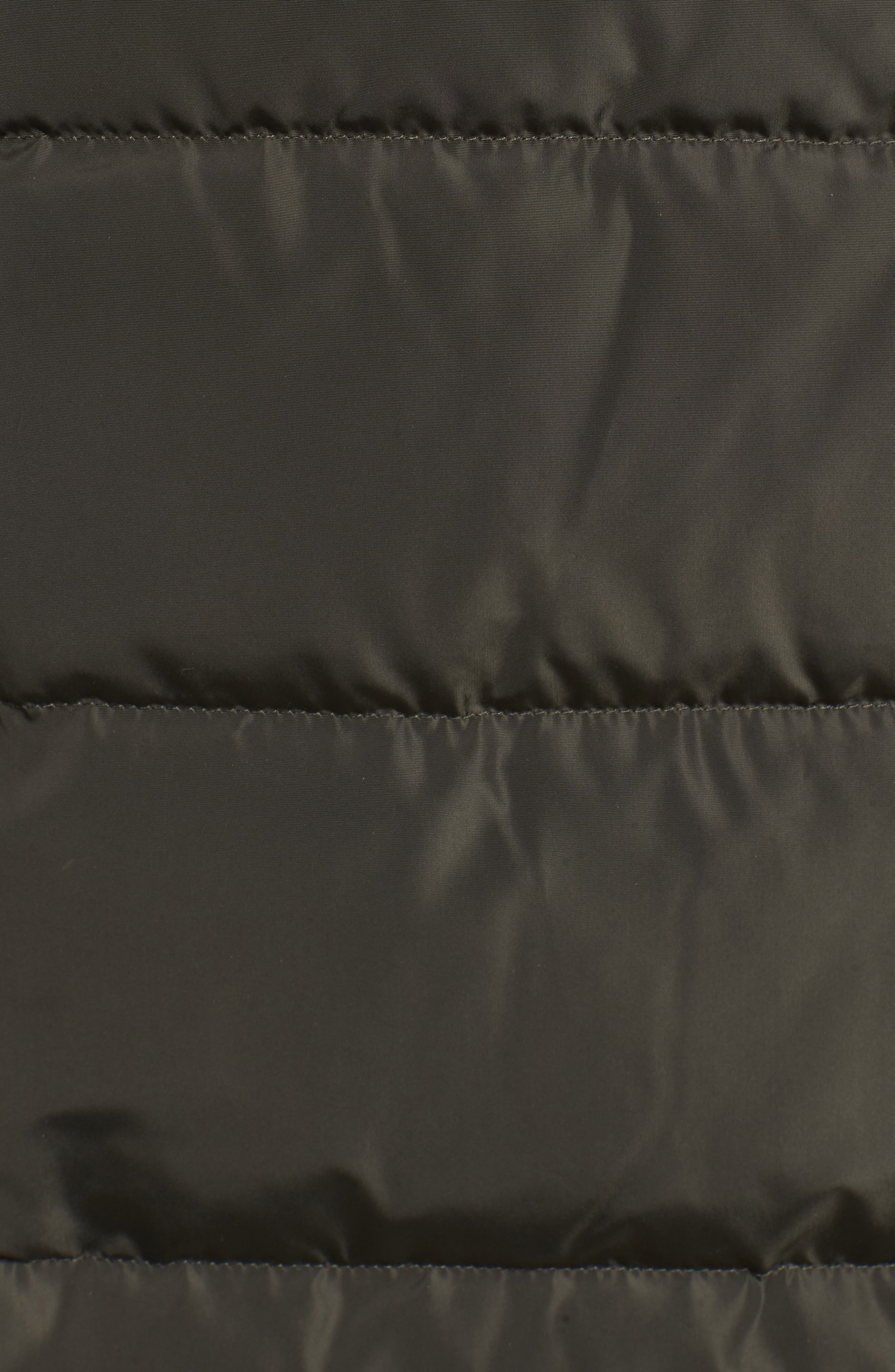 Cole Haan Quilted Down & Feather Fill Jacket with Faux Fur Trim,                             Alternate thumbnail 7, color,                             FOREST