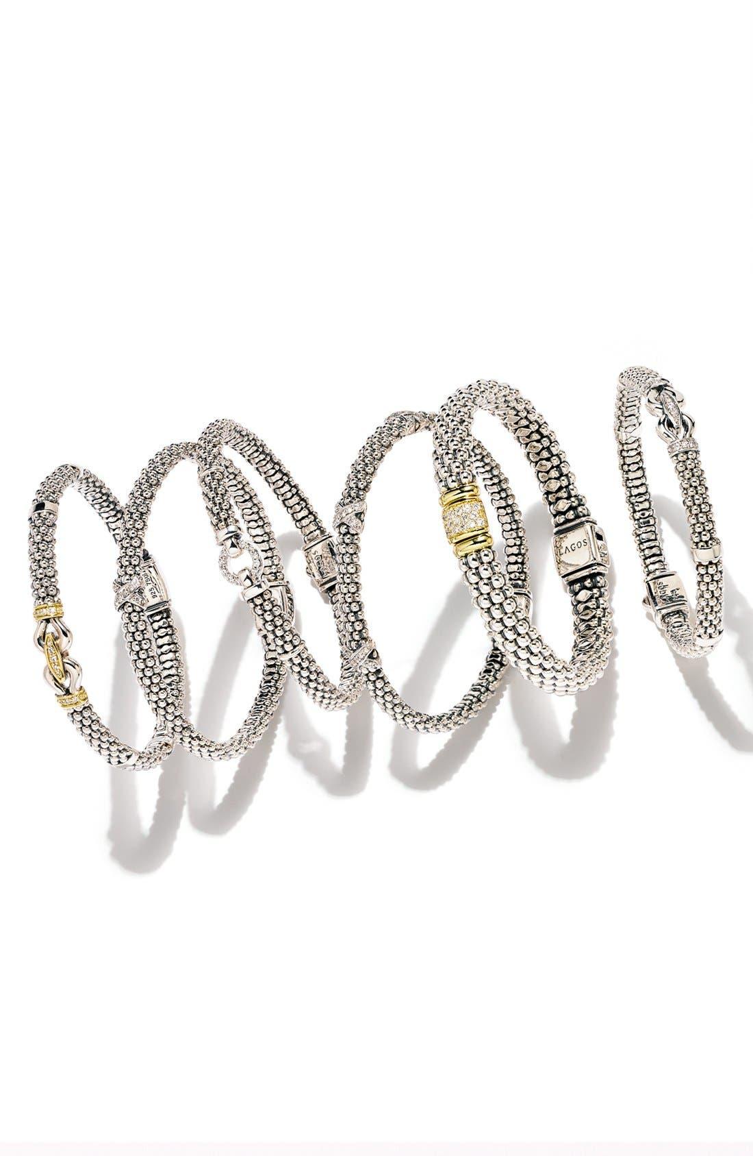 'Derby' Diamond Buckle Rope Bracelet,                             Alternate thumbnail 6, color,                             STERLING SILVER