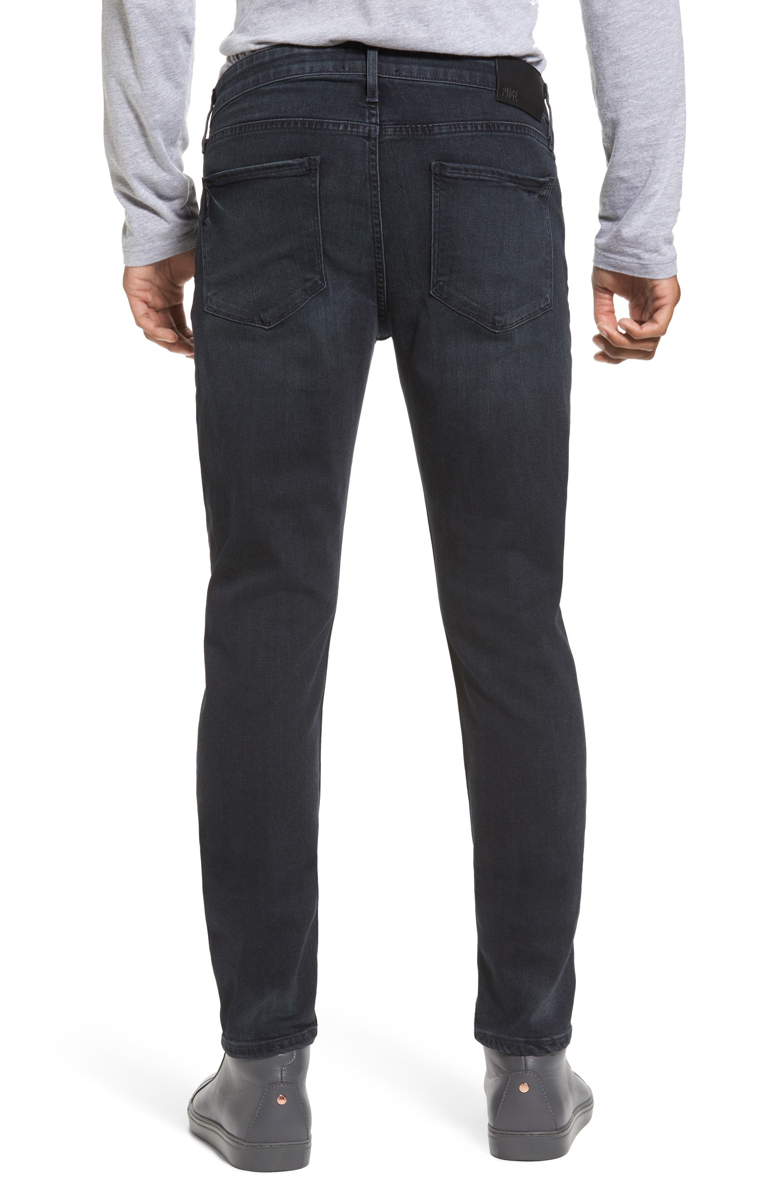 Transcend - Croft Skinny Fit Jeans,                             Alternate thumbnail 2, color,                             BECKETT