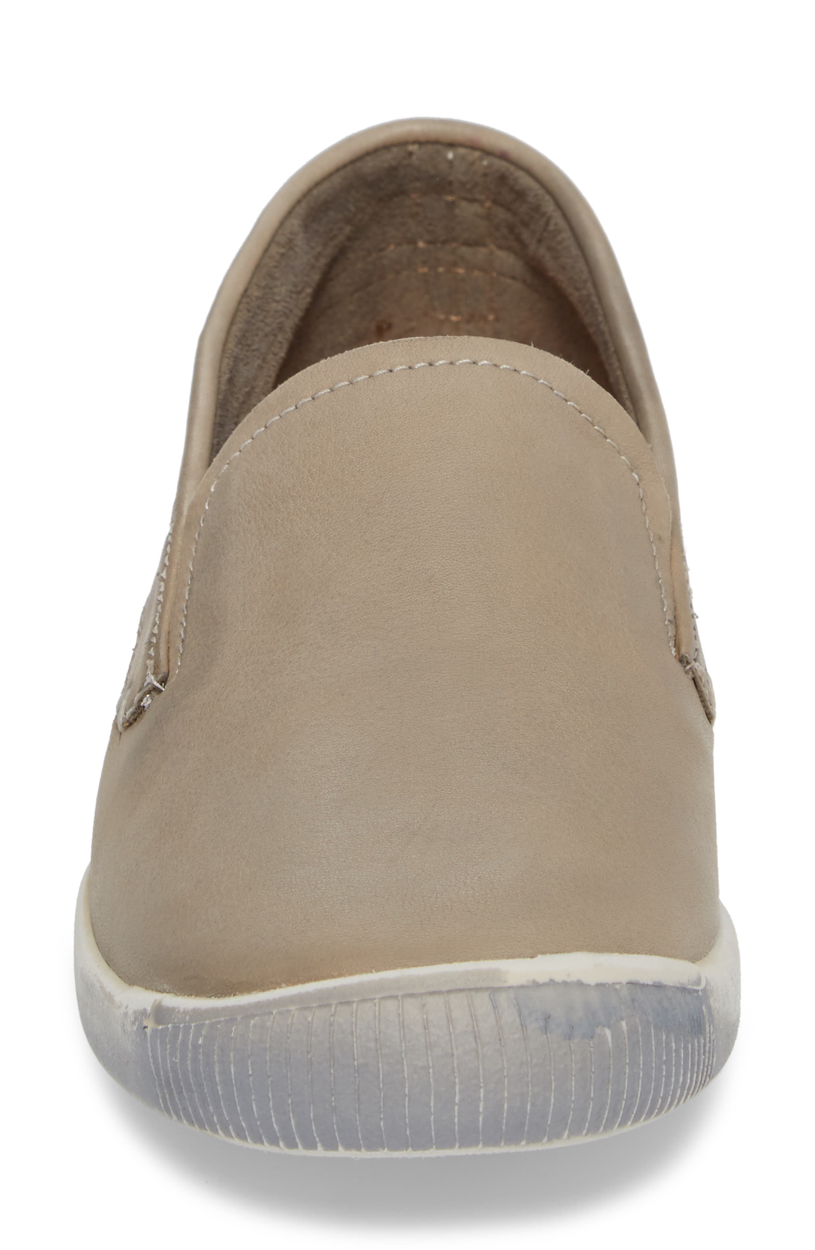 Ita Slip-On Sneaker,                             Alternate thumbnail 4, color,                             TAUPE/ TAUPE LEATHER