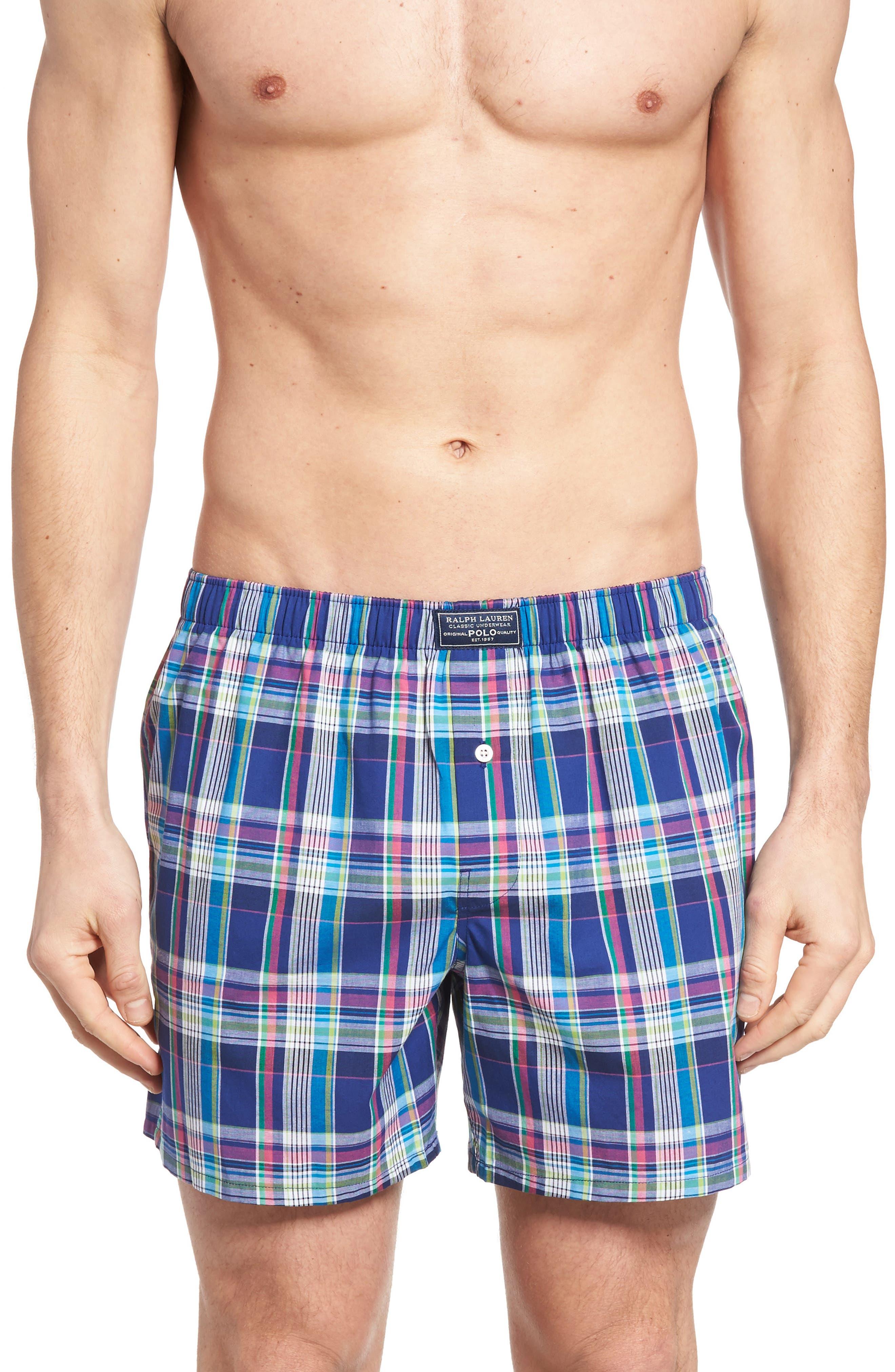 Stripe Cotton Boxers,                         Main,                         color,