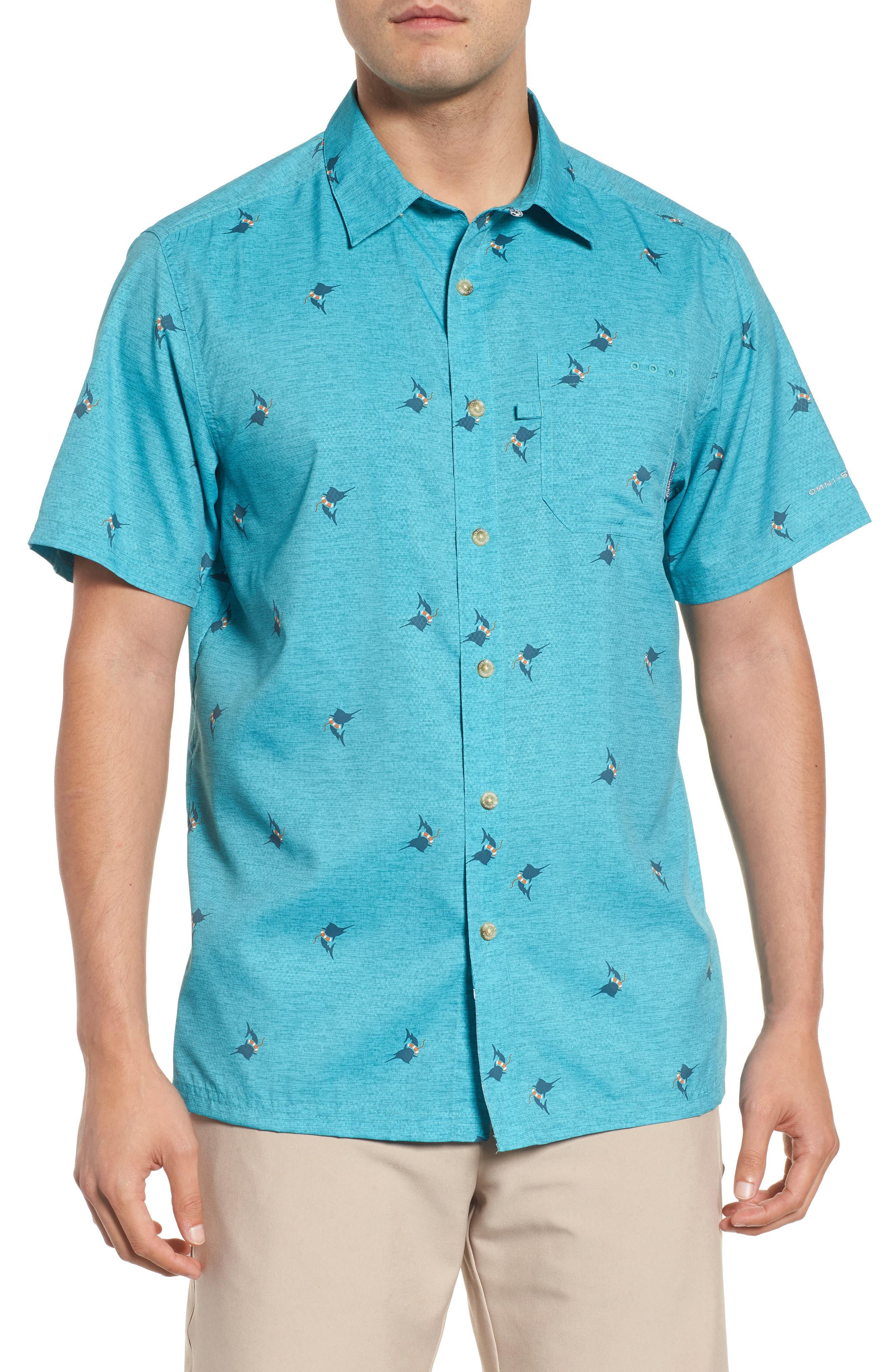 Super Slack Tide Patterned Woven Shirt,                             Main thumbnail 3, color,
