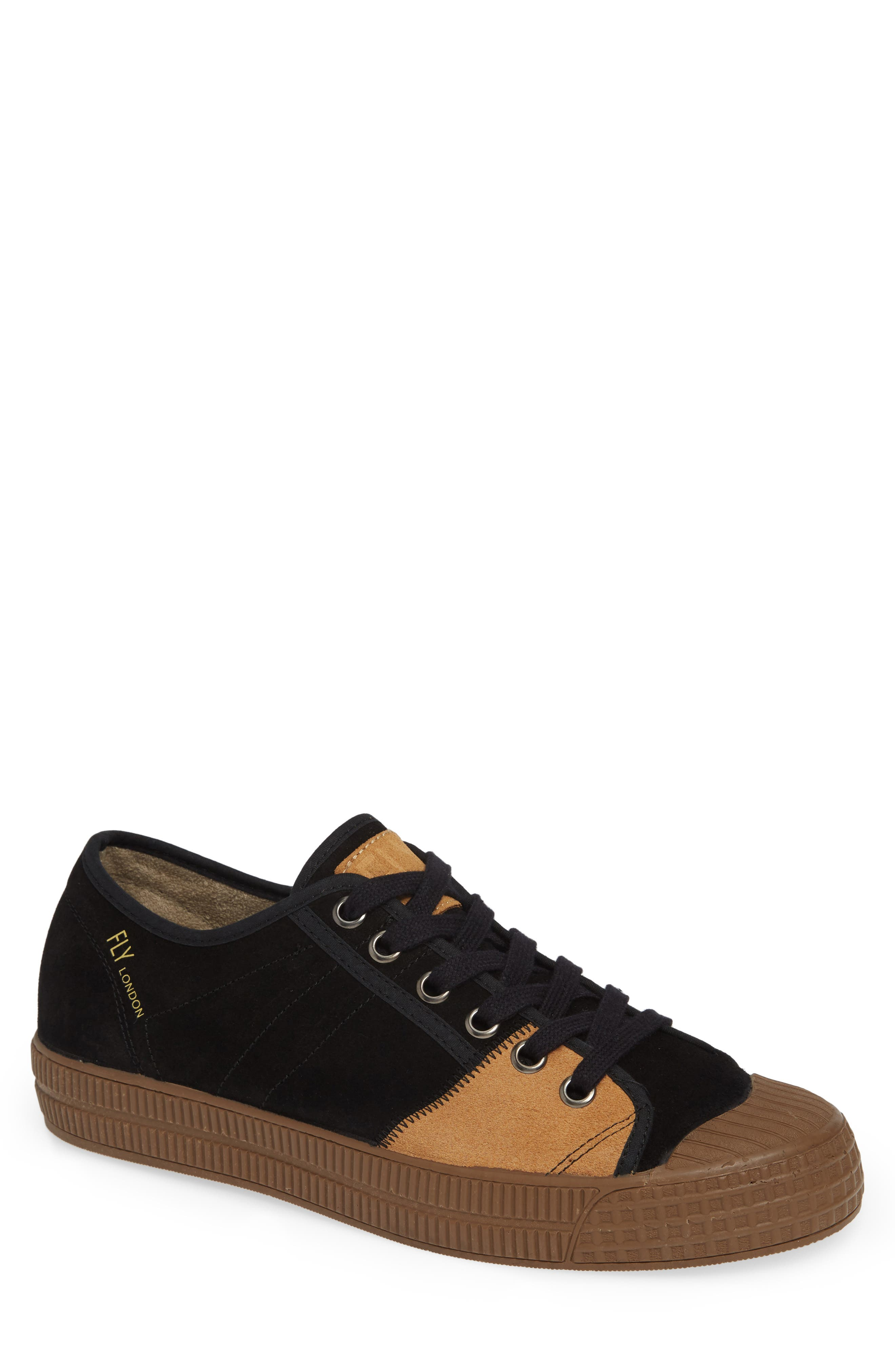 Foto Sneaker,                             Main thumbnail 1, color,                             BLACK/ CAMEL SUEDE
