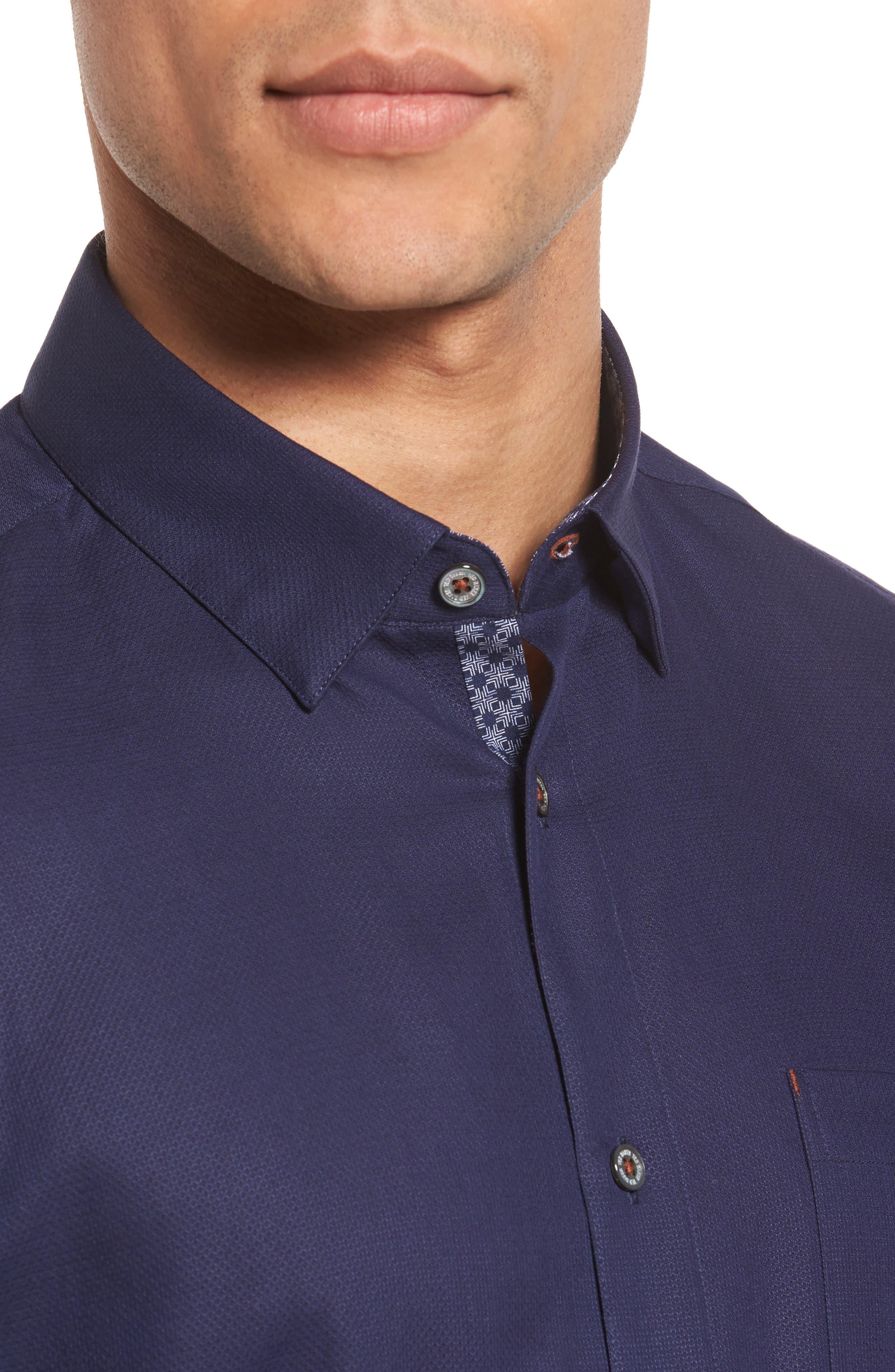 Nordlux Modern Slim Fit Stretch Cotton Sport Shirt,                             Alternate thumbnail 18, color,