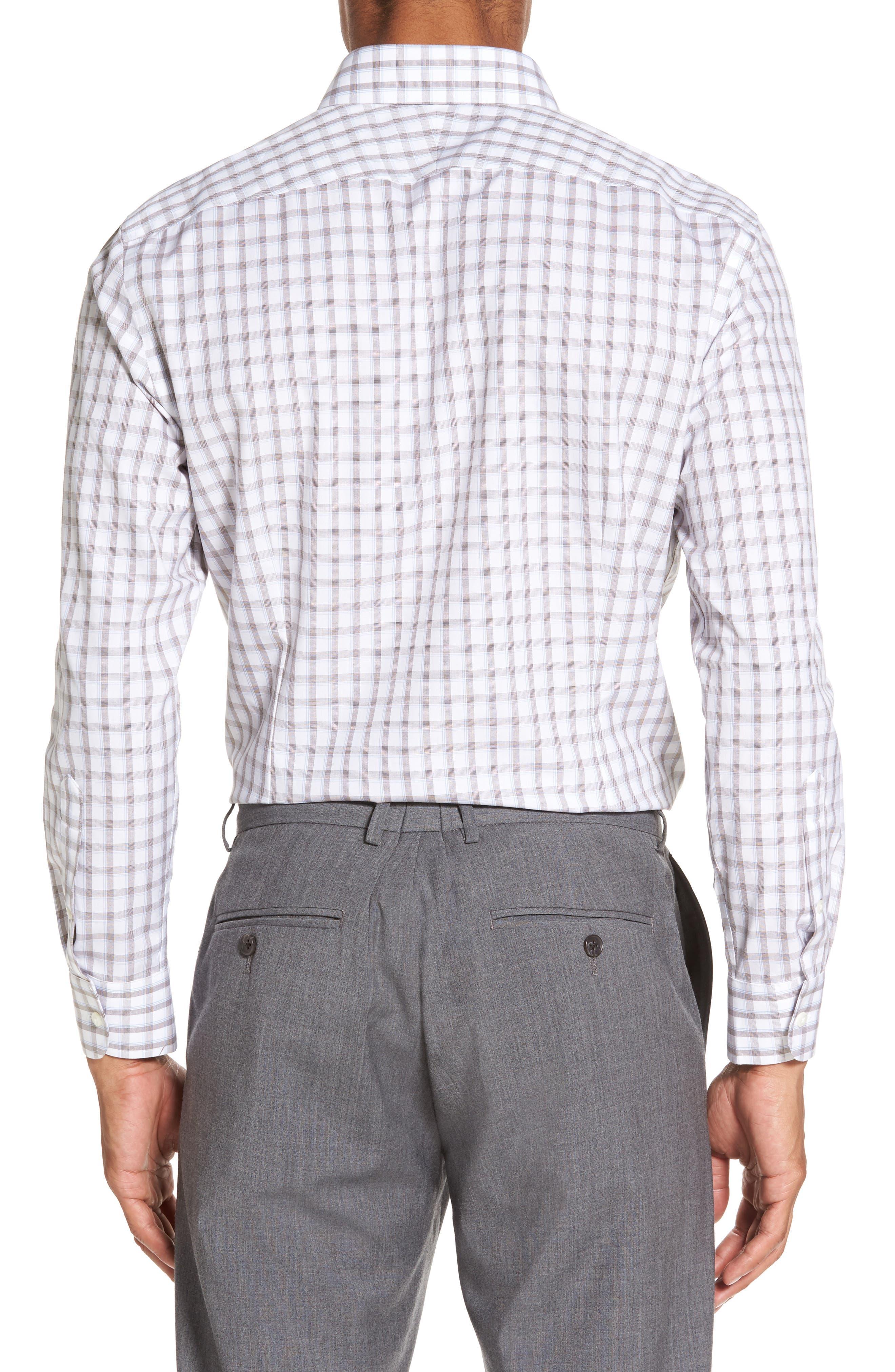 Smartcare<sup>™</sup> Extra Trim Fit Plaid Dress Shirt,                             Alternate thumbnail 2, color,                             210