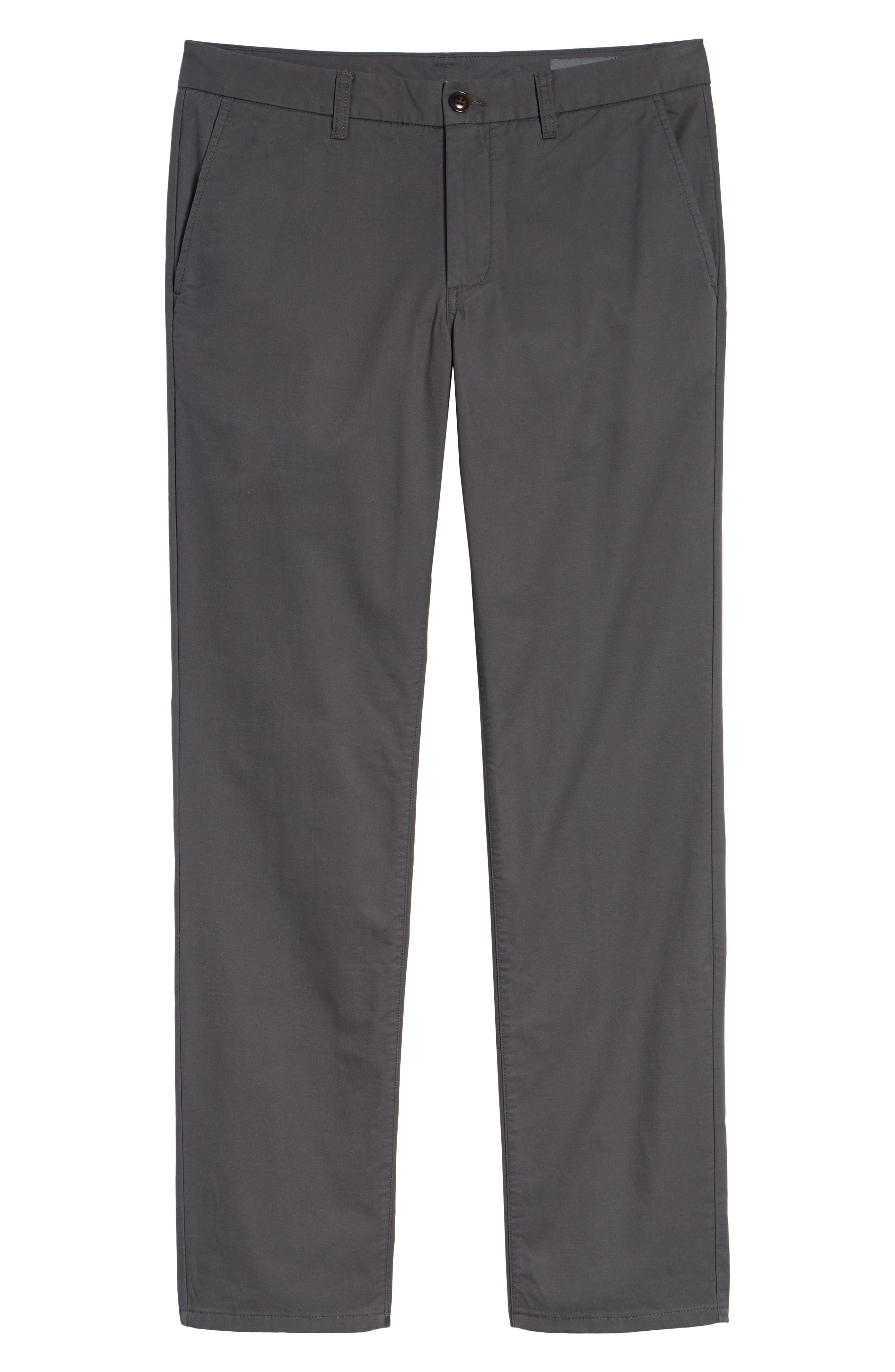 Slim Fit Flannel Lined Chinos,                             Alternate thumbnail 6, color,                             COAL GREY