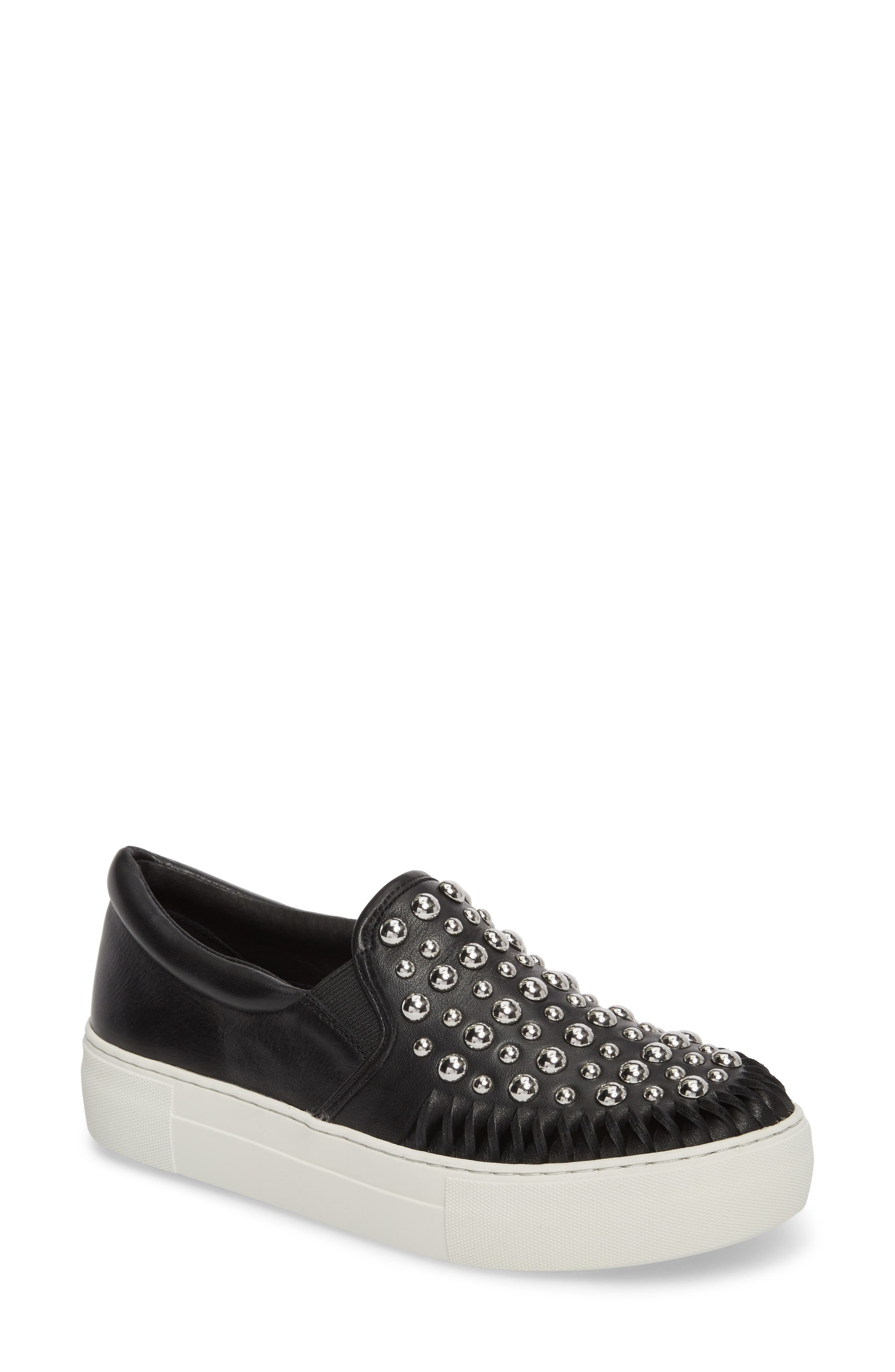 AZT Studded Slip-On Sneaker,                             Main thumbnail 1, color,                             015