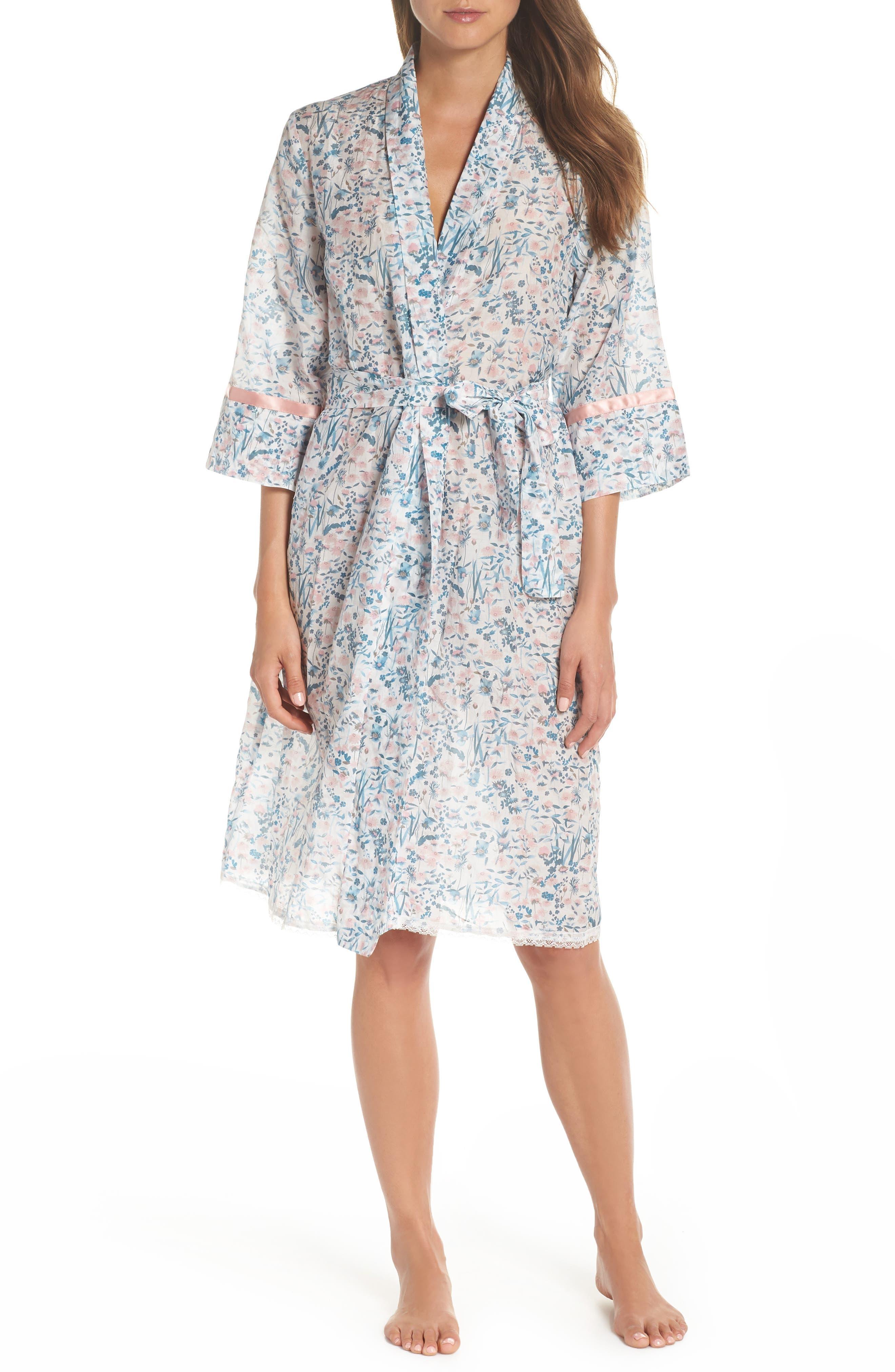 Ellie Floral Robe,                         Main,                         color, BLUE