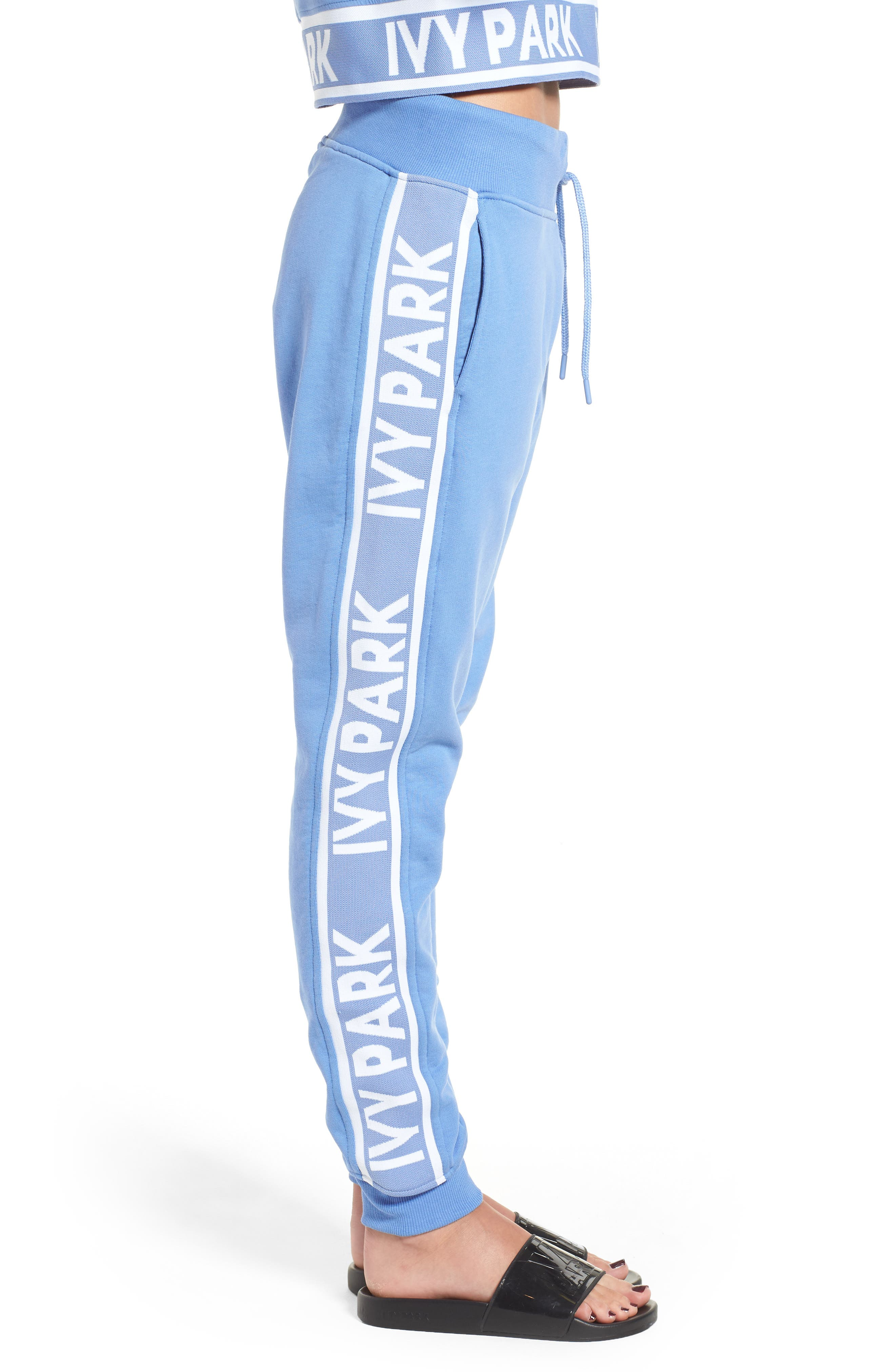 Logo Tape Jogger Pants,                             Alternate thumbnail 3, color,                             WEDGEWOOD BLUE