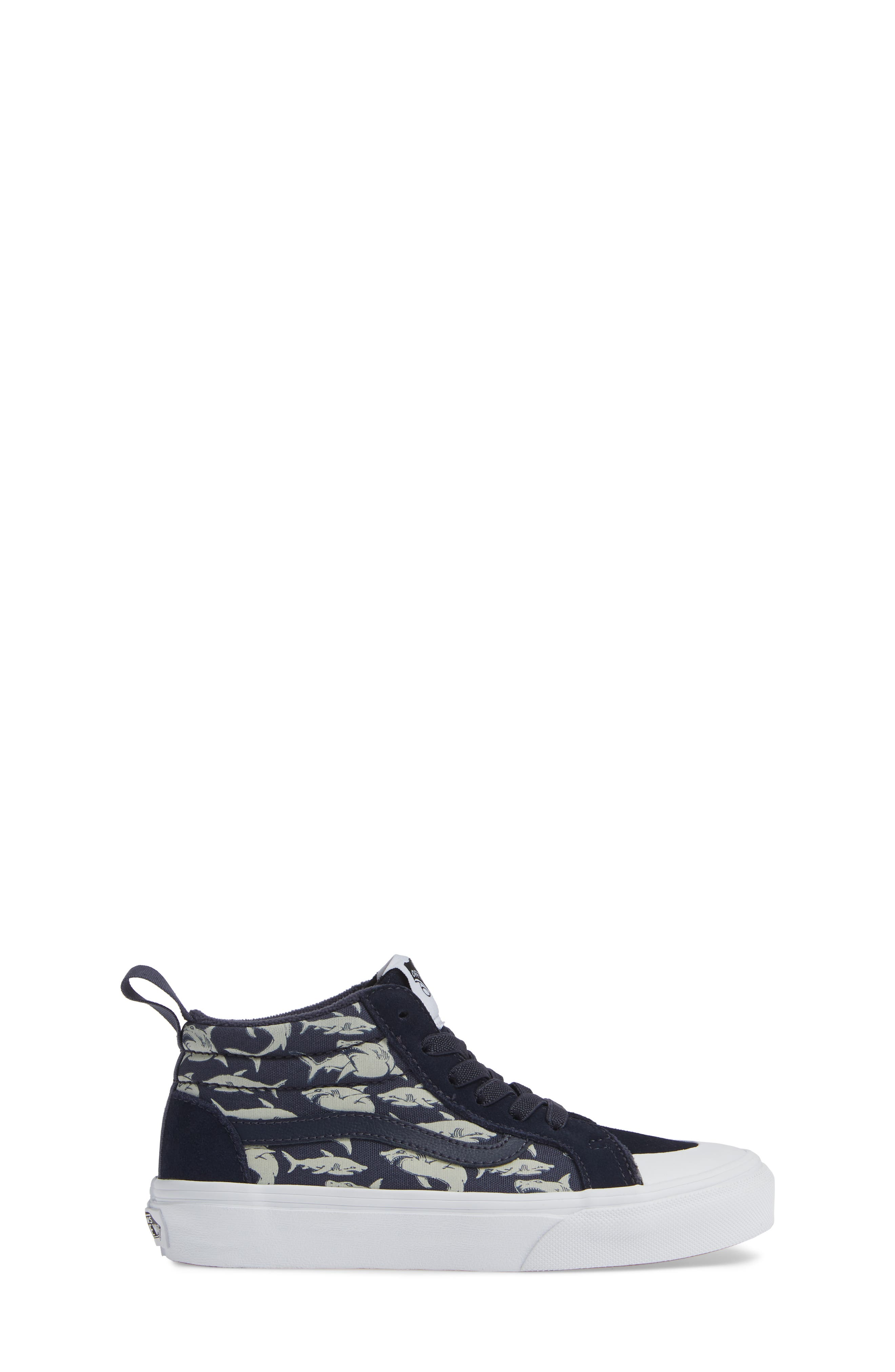 Racer Mid Elastic Lace Sneaker,                             Alternate thumbnail 19, color,