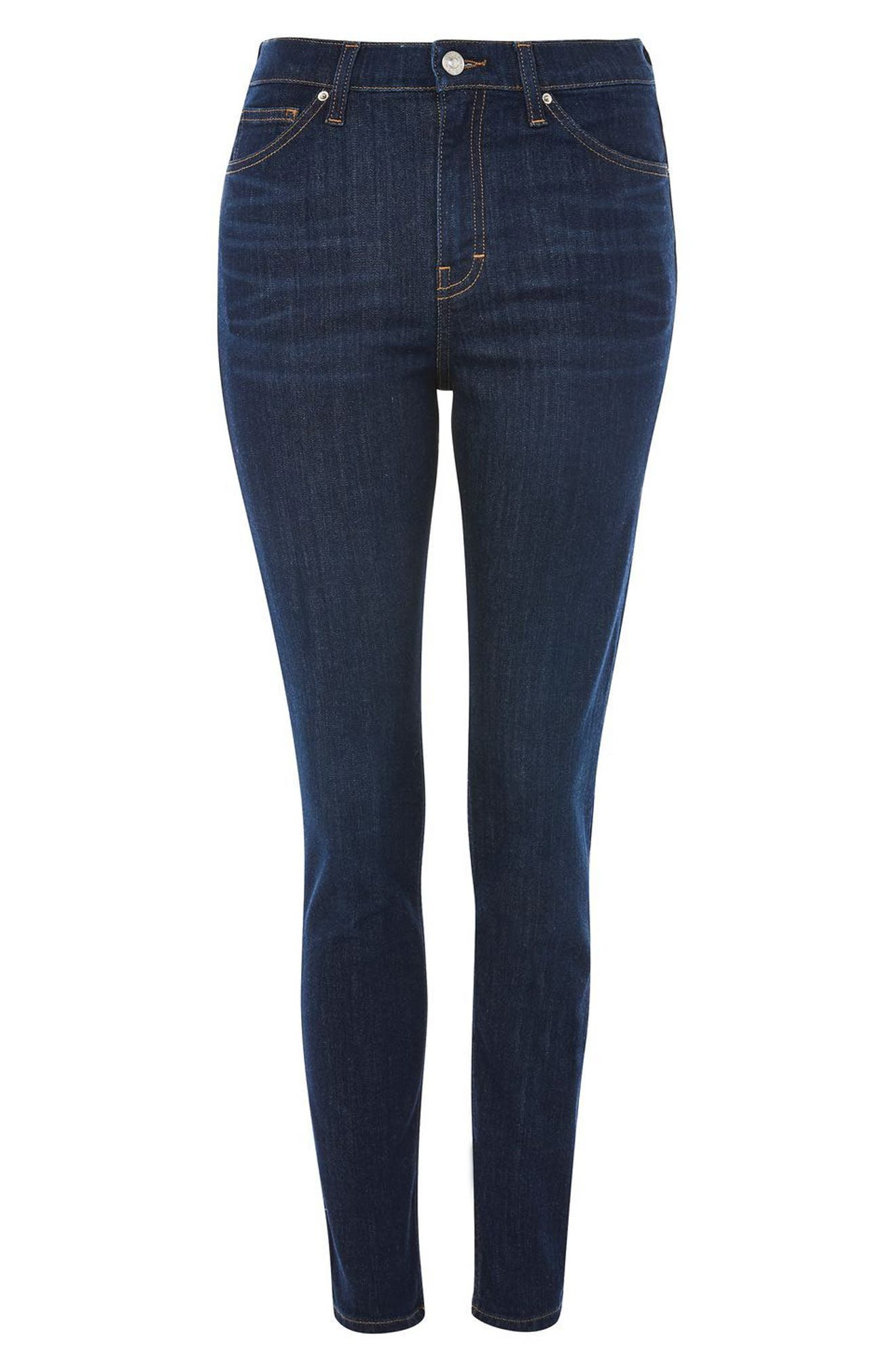 Jamie High Waist Ankle Skinny Jeans,                             Alternate thumbnail 4, color,                             410
