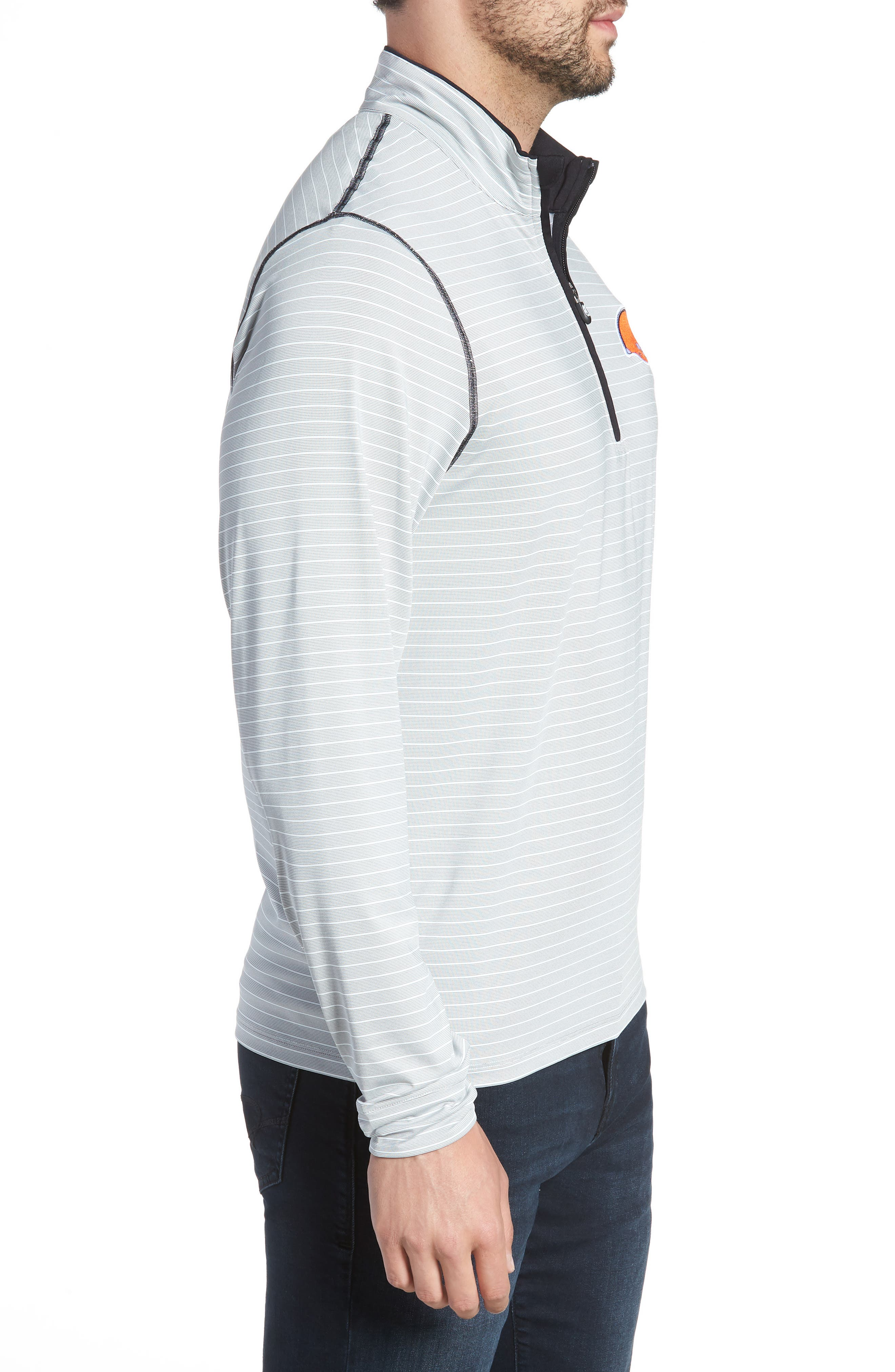 Meridian - Cleveland Browns Regular Fit Half Zip Pullover,                             Alternate thumbnail 3, color,                             BLACK