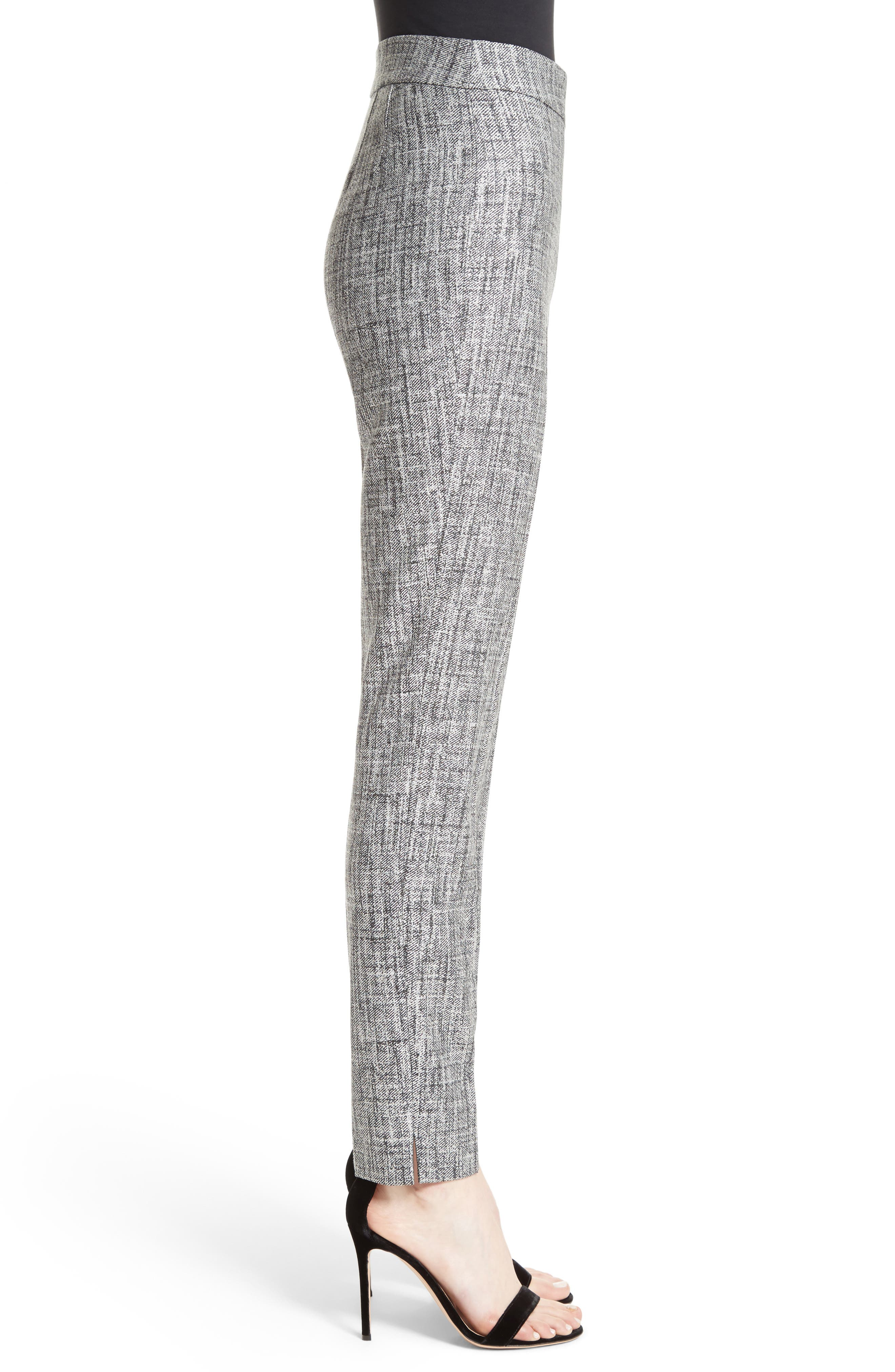 Emma Abstract Stretch Twill Pants,                             Alternate thumbnail 3, color,                             030